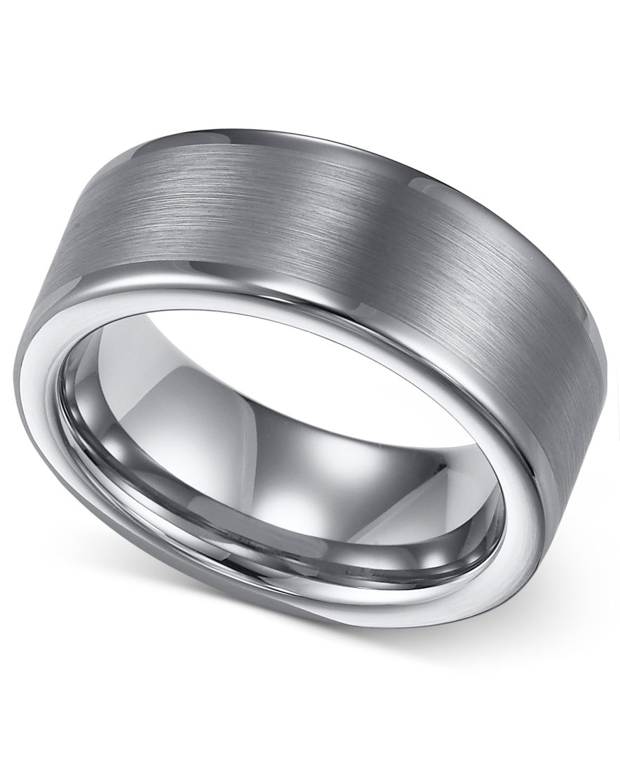 Macys Mens Wedding Rings: Macy's Triton Men's Tungsten Ring, 8mm Wedding Band In