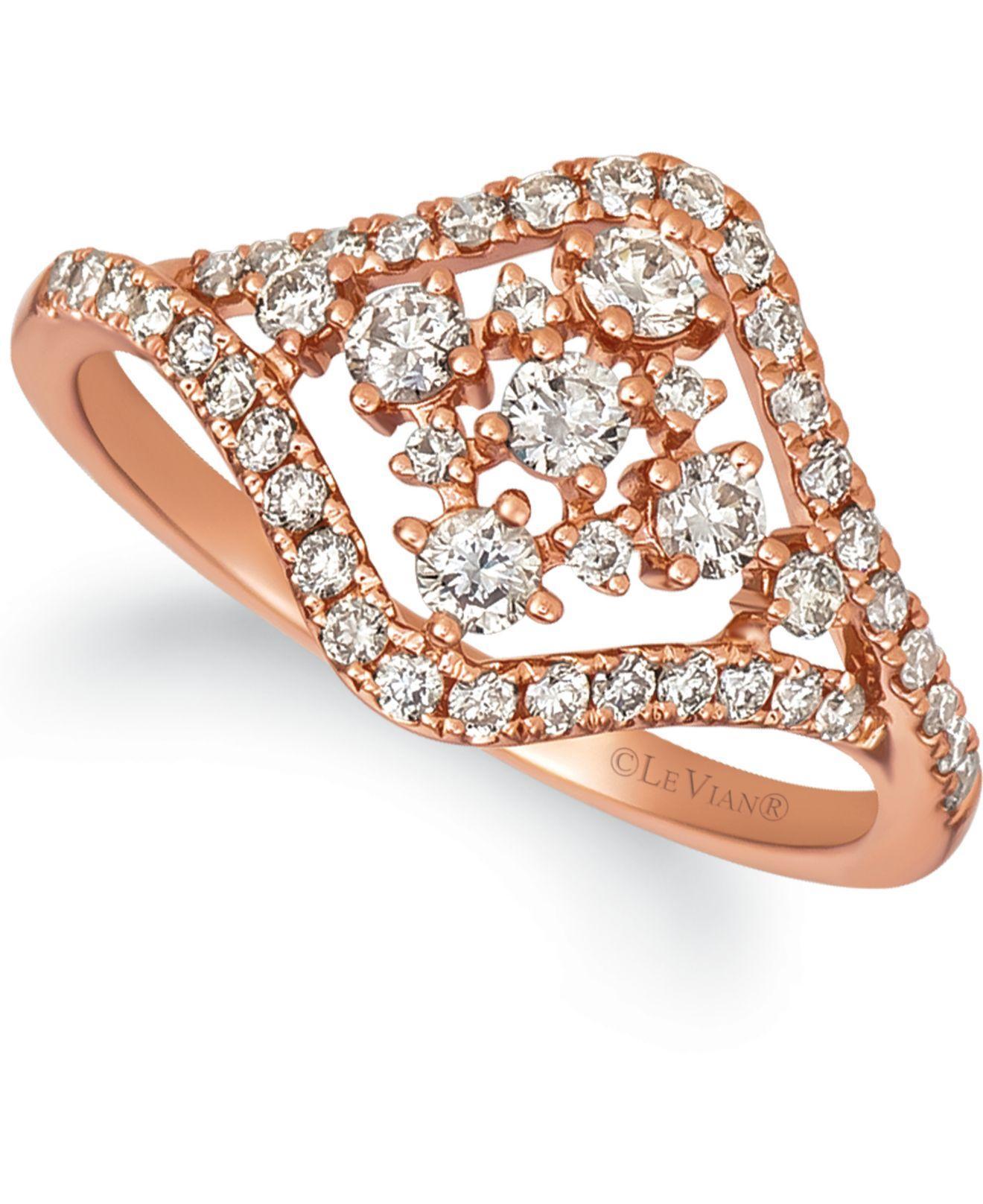Le Vian Nude Diamond Ring 1/2 ct tw Round 14K Strawberry