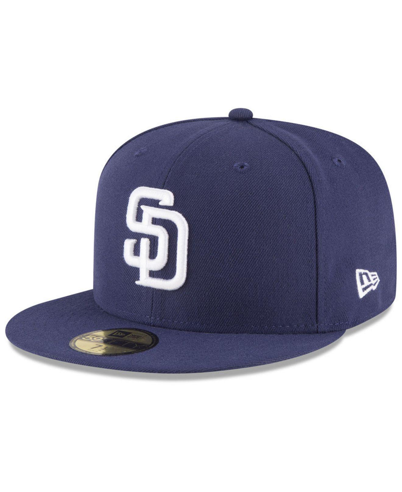 best cheap d827b 0a0c0 KTZ San Diego Padres Sandlot Patch 59fifty Fitted Cap in Blue for ...