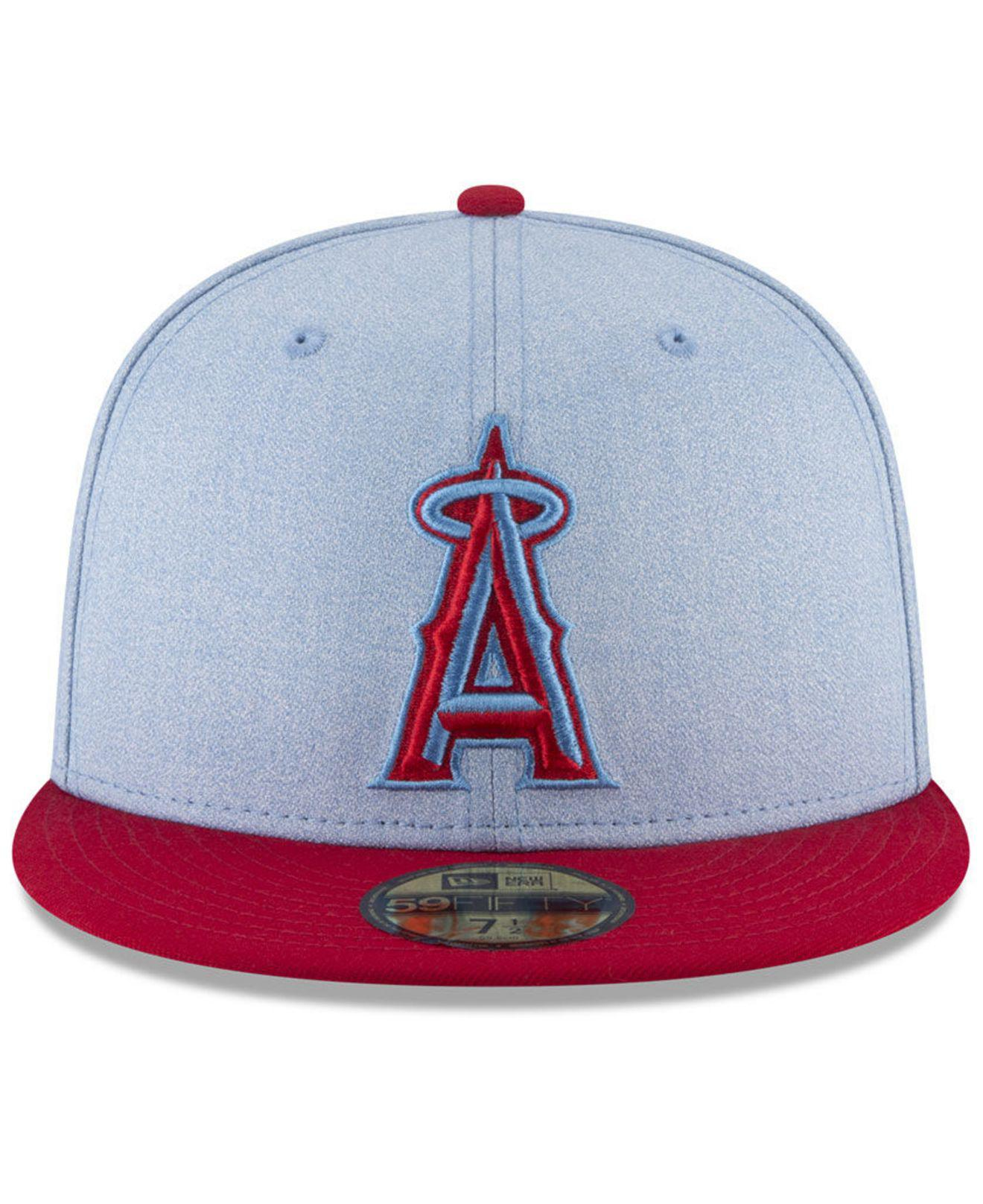 super cute 46a4d f836a ... where can i buy lyst ktz los angeles angels fathers day 59fifty fitted cap  2018 3da77