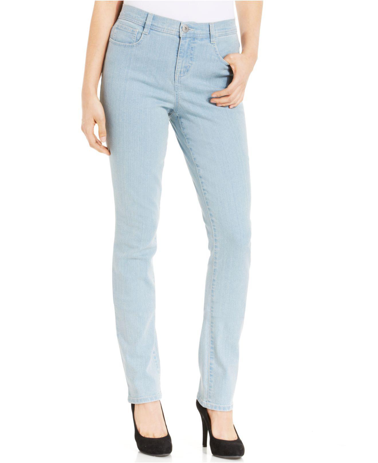 Style /& Co Tummy Control Slim-Leg Jeans,