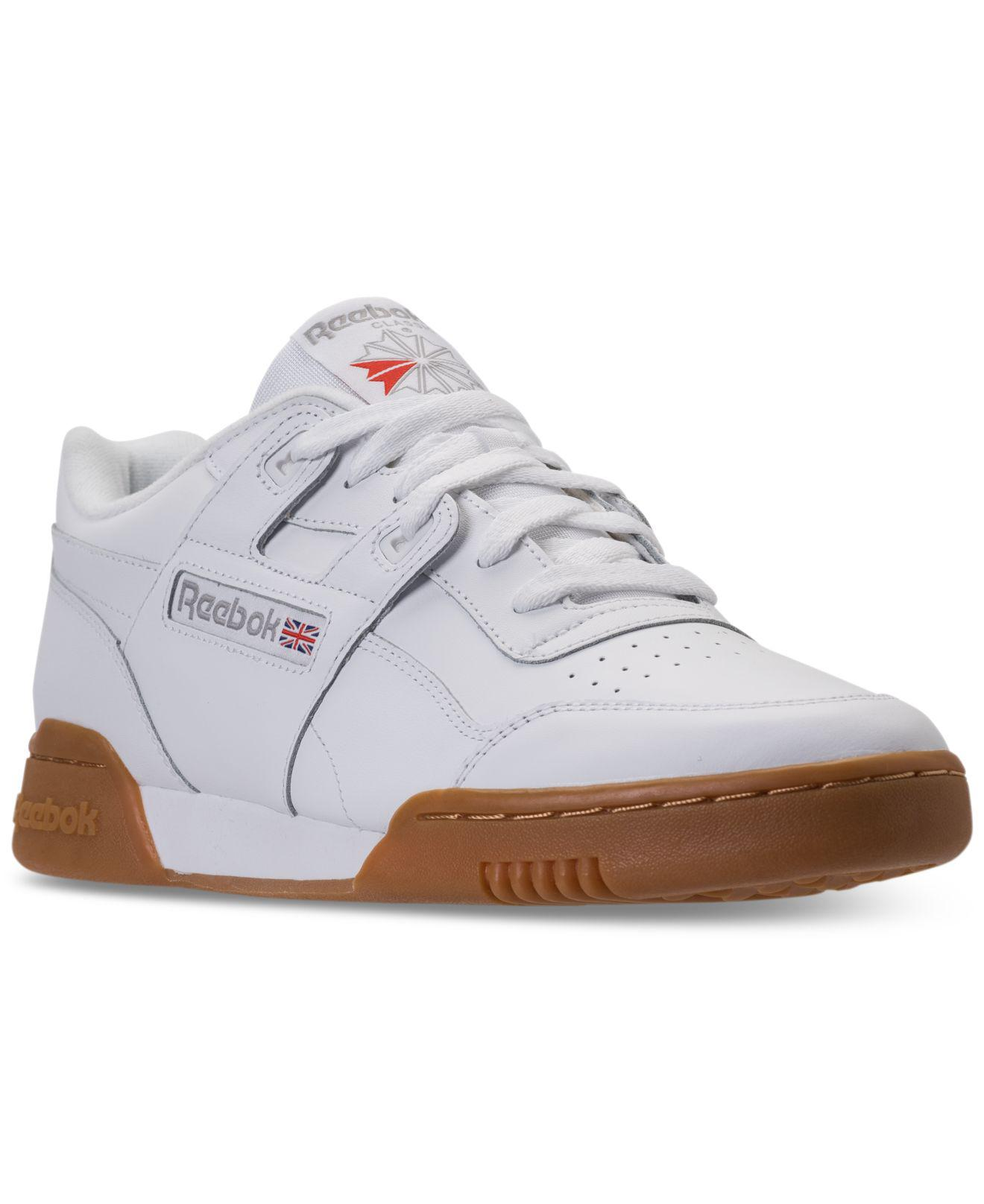 6b366e88d535 Lyst - Reebok Workout Plus Casual Sneakers From Finish Line in White ...