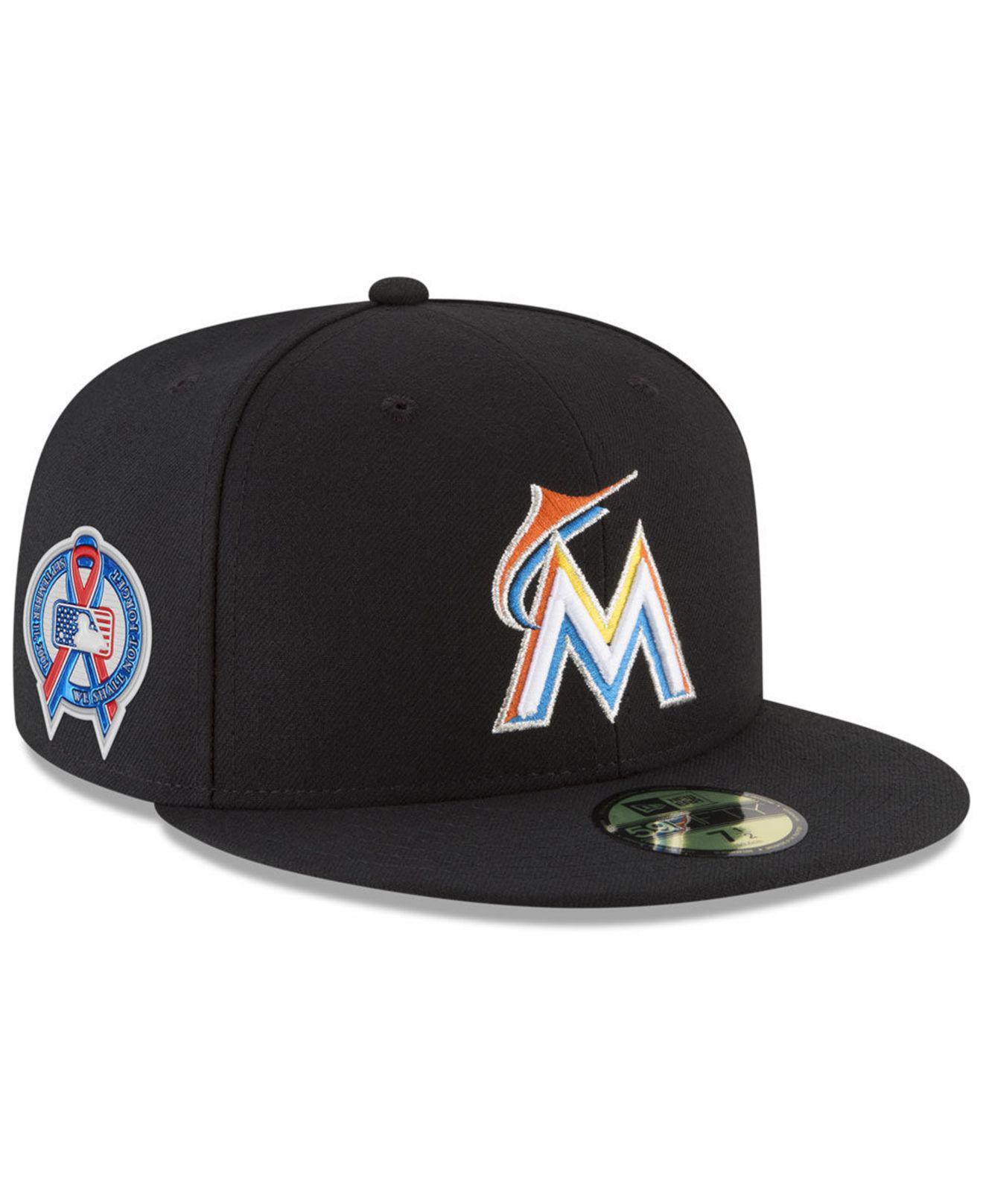 KTZ - Black Miami Marlins 9-11 Memorial 59fifty Fitted Cap for Men - Lyst.  View fullscreen ef94684aeca1