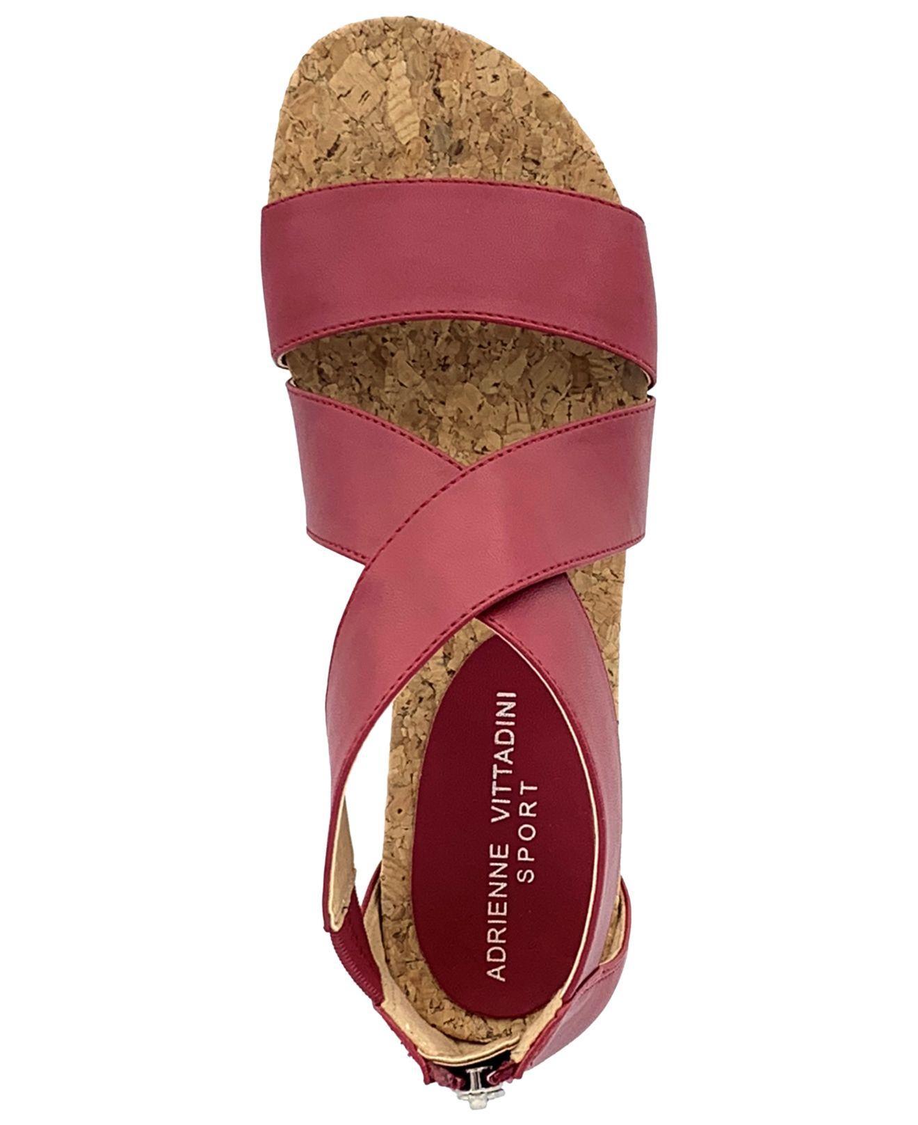 64d6f7339c84 Adrienne Vittadini - Red Cary Sport Sandals - Lyst. View fullscreen