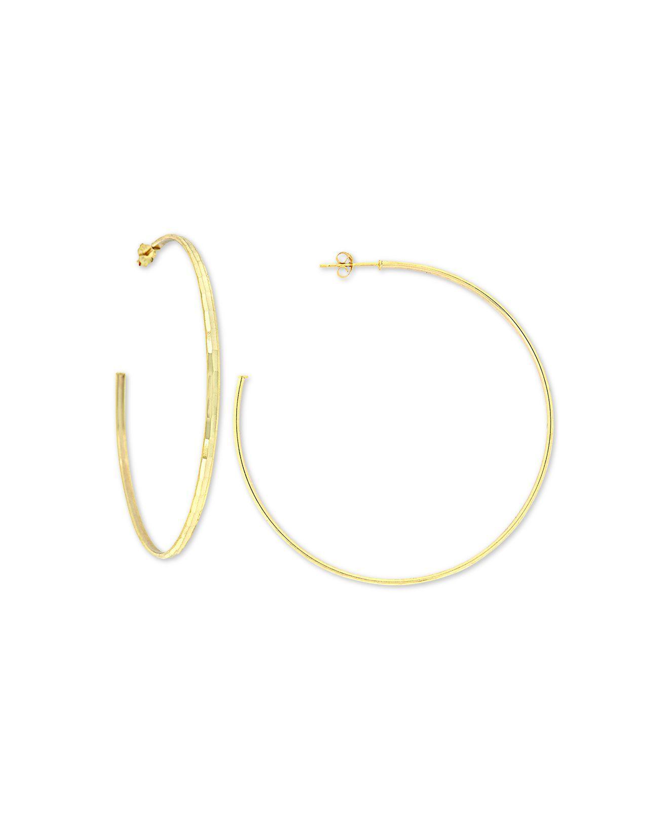397b9e747 Giani Bernini - Metallic Diamond-cut C-hoop Earrings In 18k Gold-plate.  View fullscreen