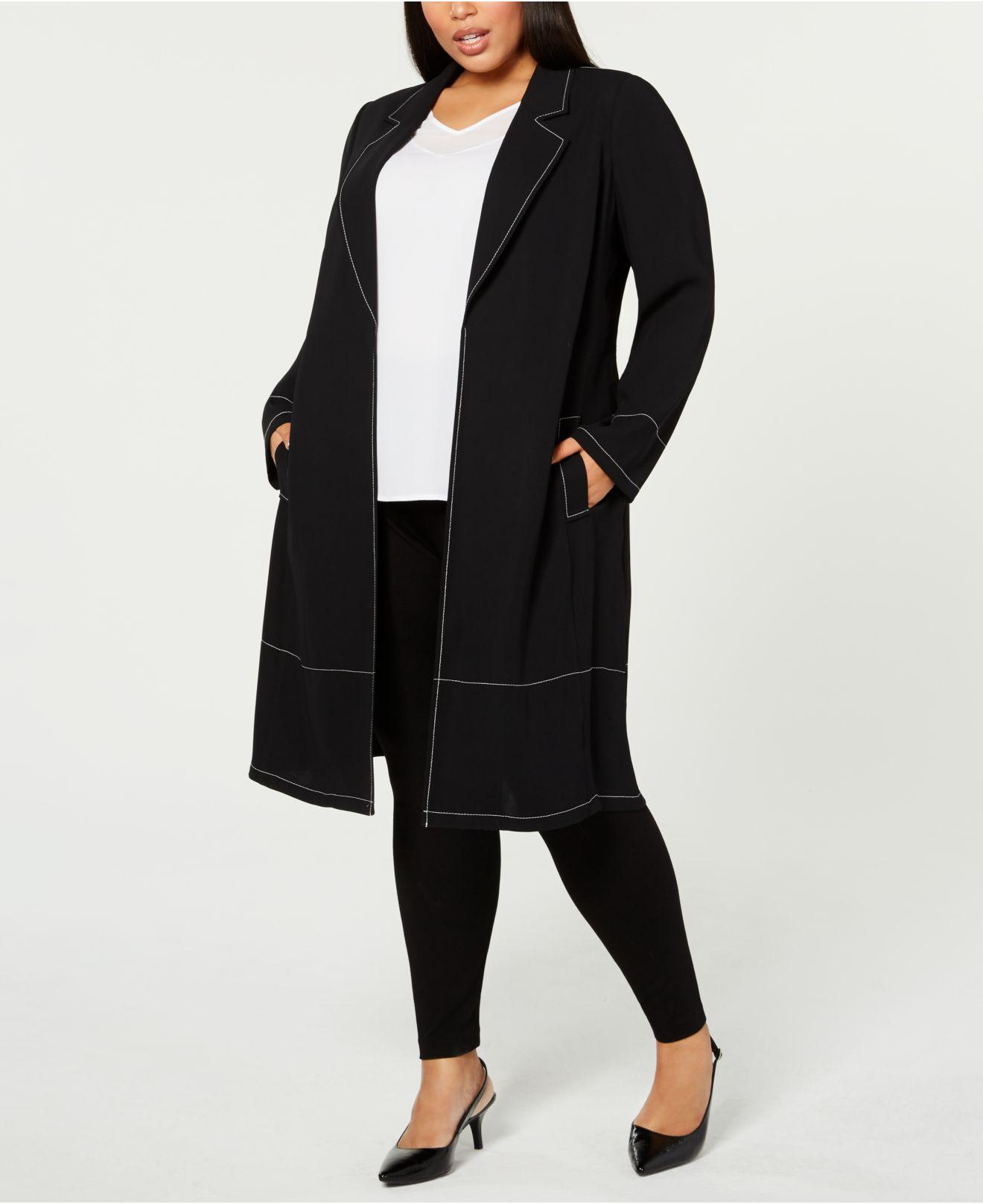 6cfa3f19a65 Alfani. Women s Black Plus Size Contrast-stitch Jacket