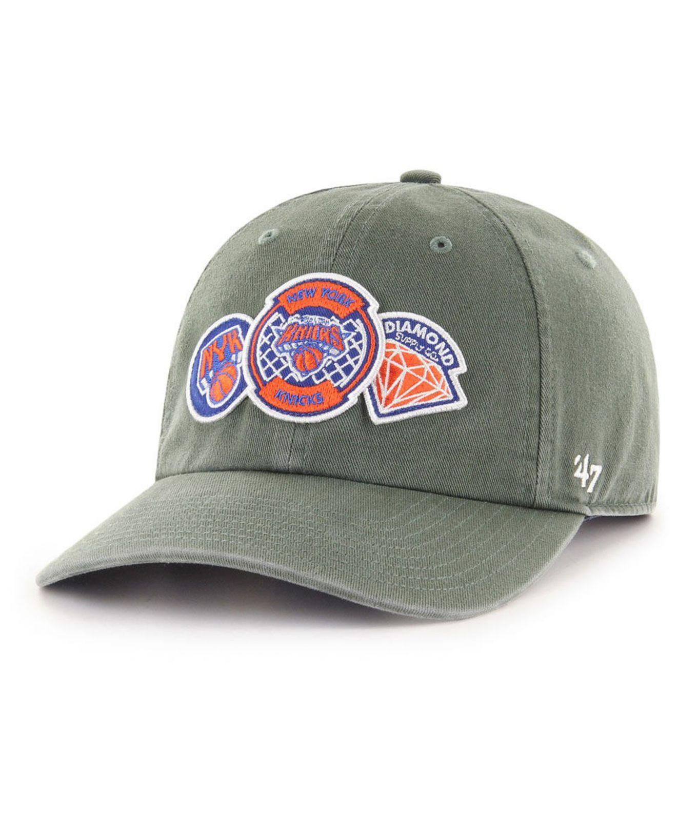 new style 6b289 2484a 47 Brand. Men s New York Knicks Diamond Patch Clean Up Mf Cap