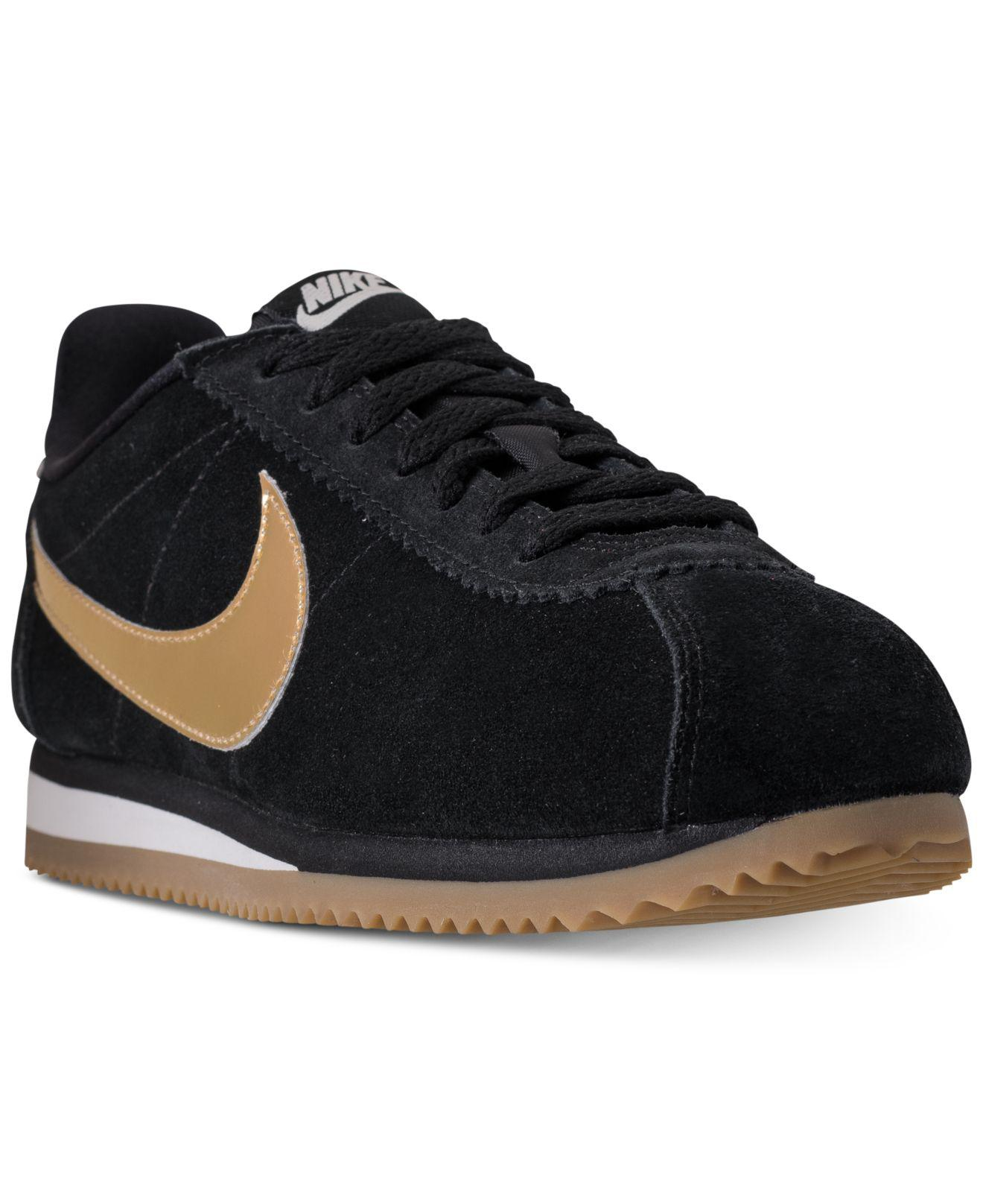 pretty nice 51d9b 58e4f Nike. Women s Black Classic Cortez Se Casual Sneakers From Finish Line