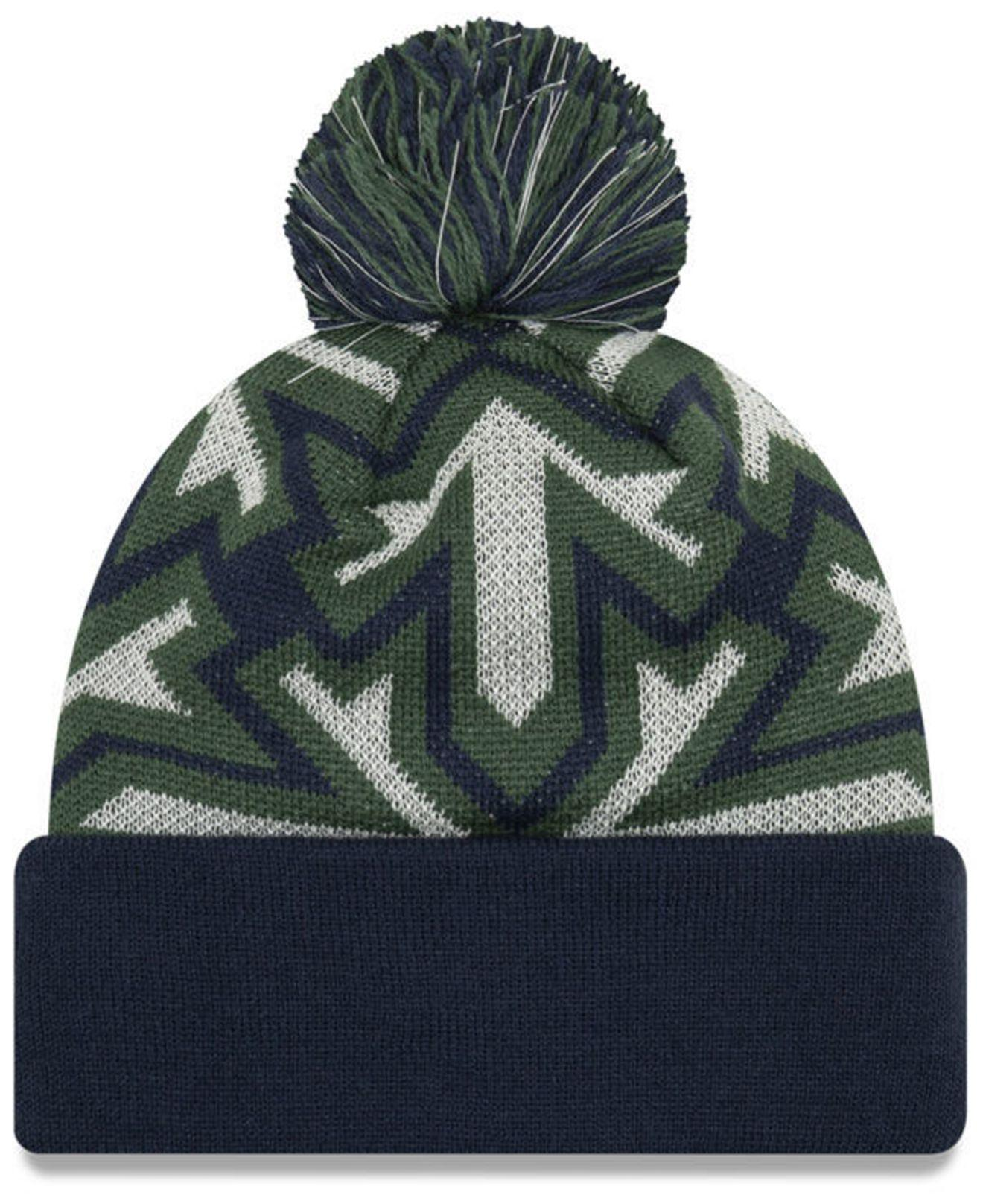 wholesale dealer ad28f 200df ... clearance promo code for lyst ktz utah jazz glowflake cuff knit hat in  blue for men