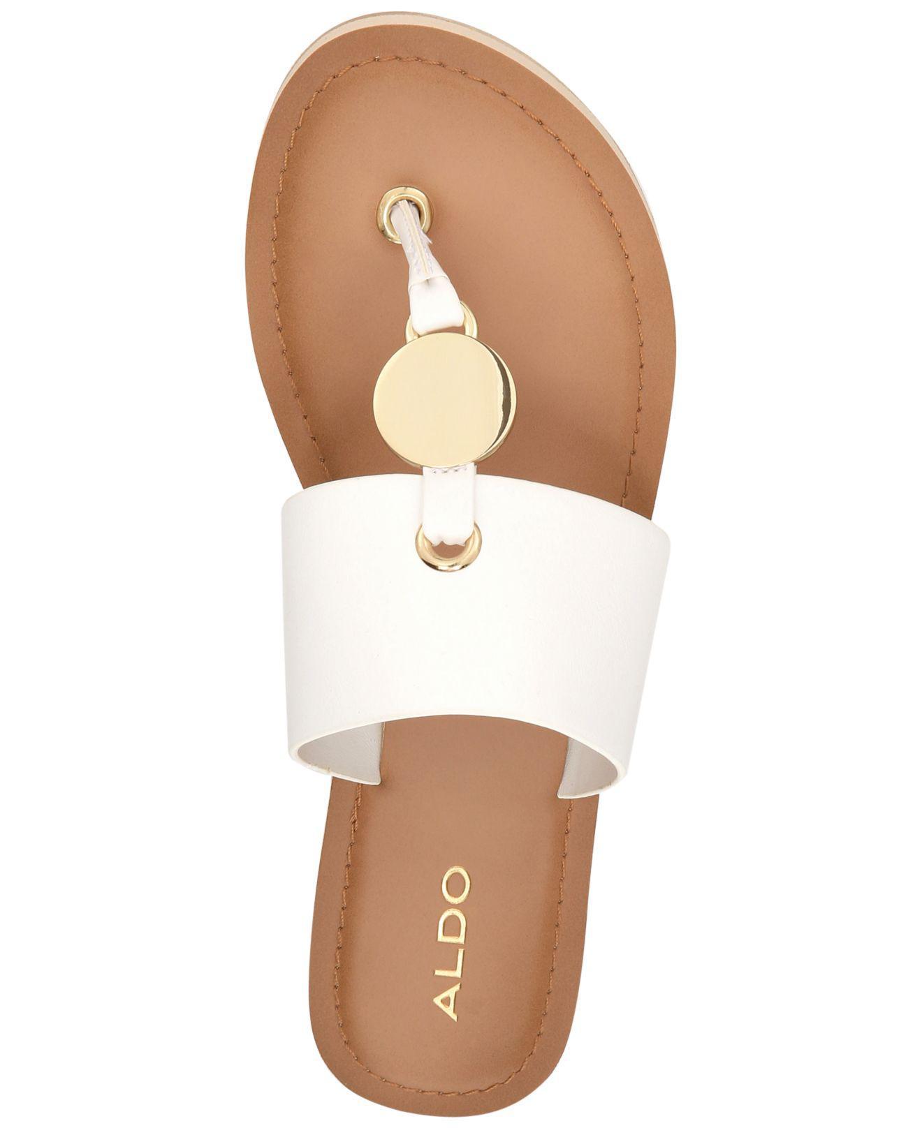 ALDO Denim Yilania Coin Slide Sandals
