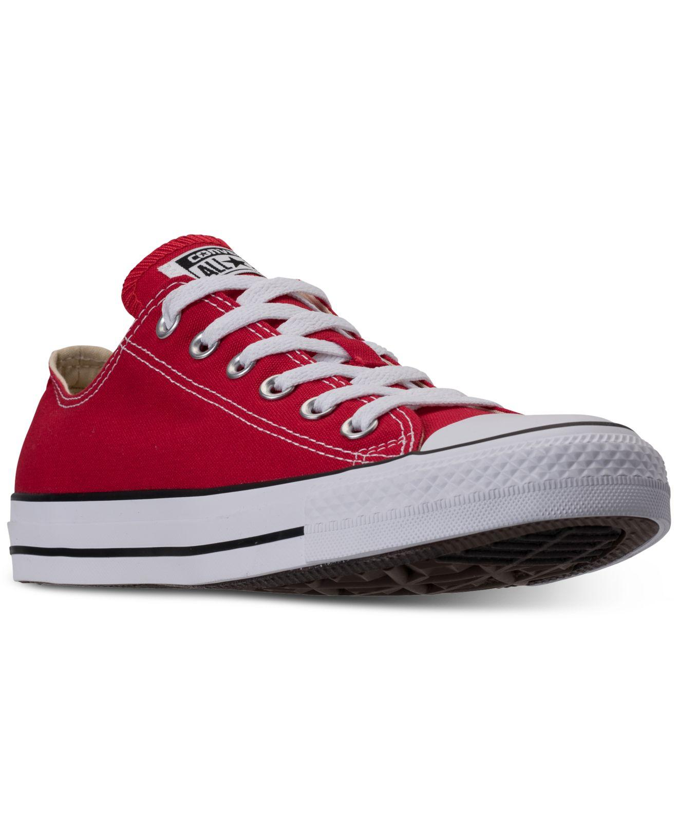 c5f43e8e7964 Lyst - Converse Men s Chuck Taylor All Star Sneakers From Finish Line in Red  for Men