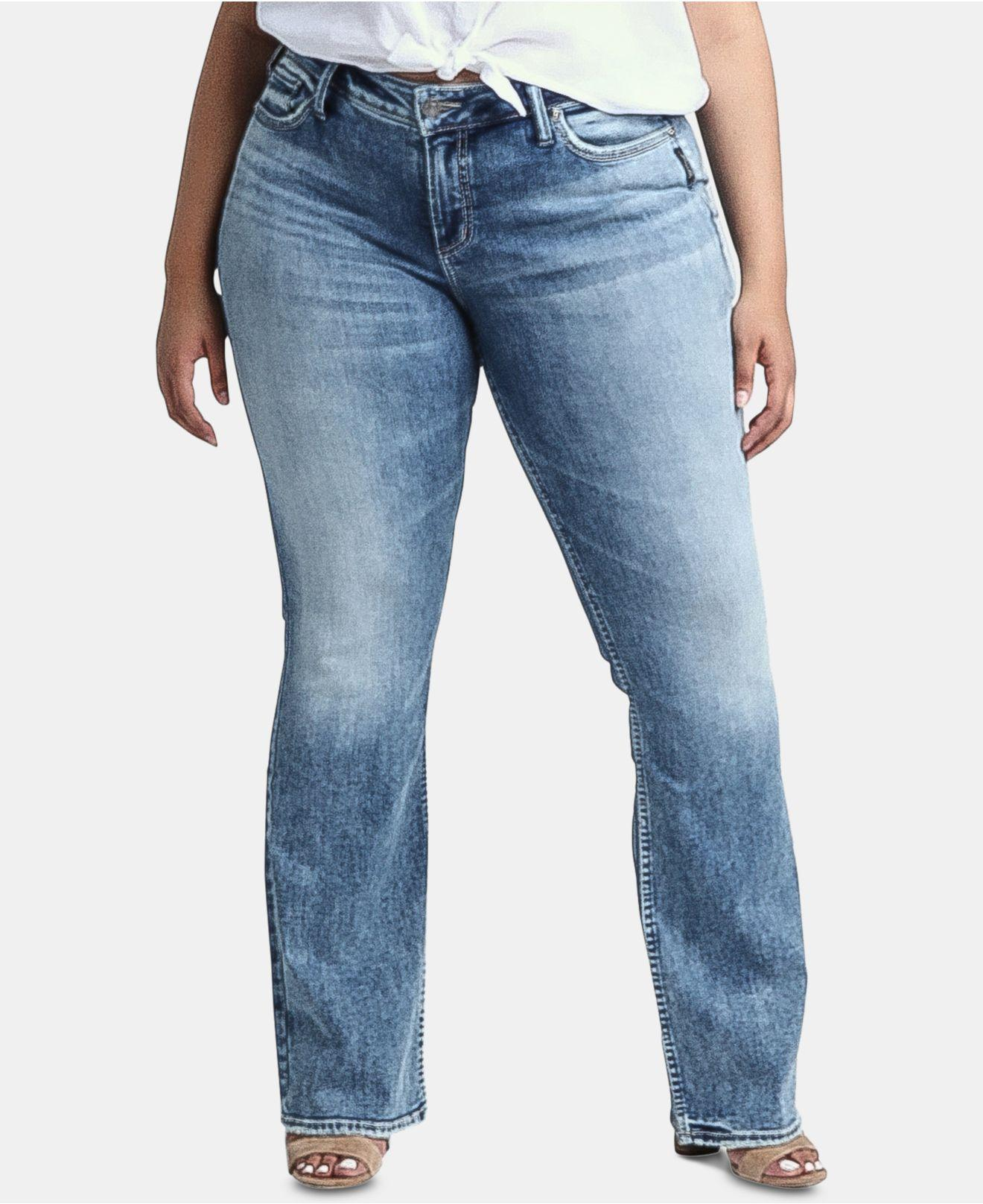 where to buy sophisticated technologies competitive price Women's Blue Plus Size Elyse Slim Bootcut Jeans