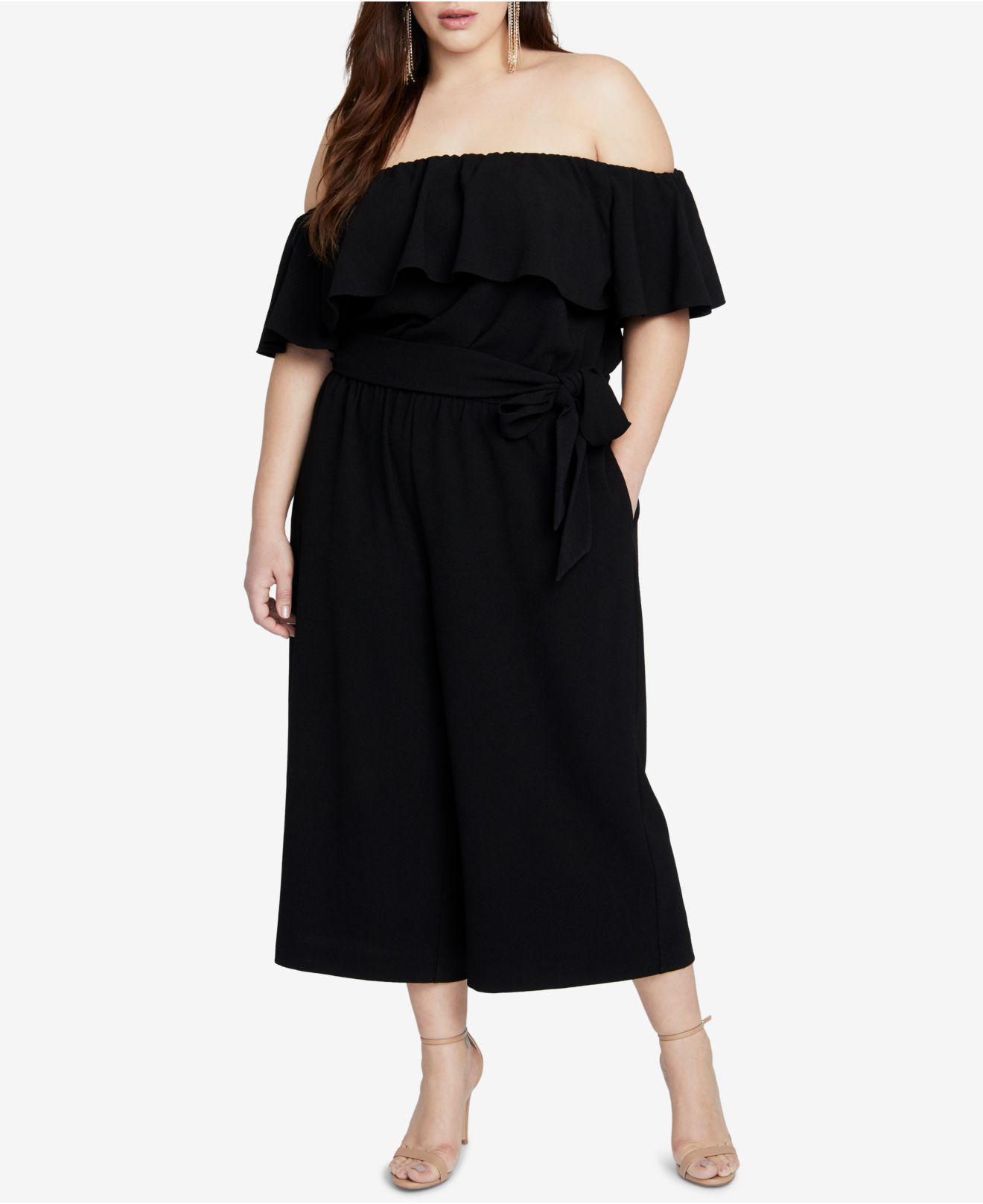 bf99a79d64e Lyst - RACHEL Rachel Roy Trendy Plus Size Off-the-shoulder Jumpsuit ...
