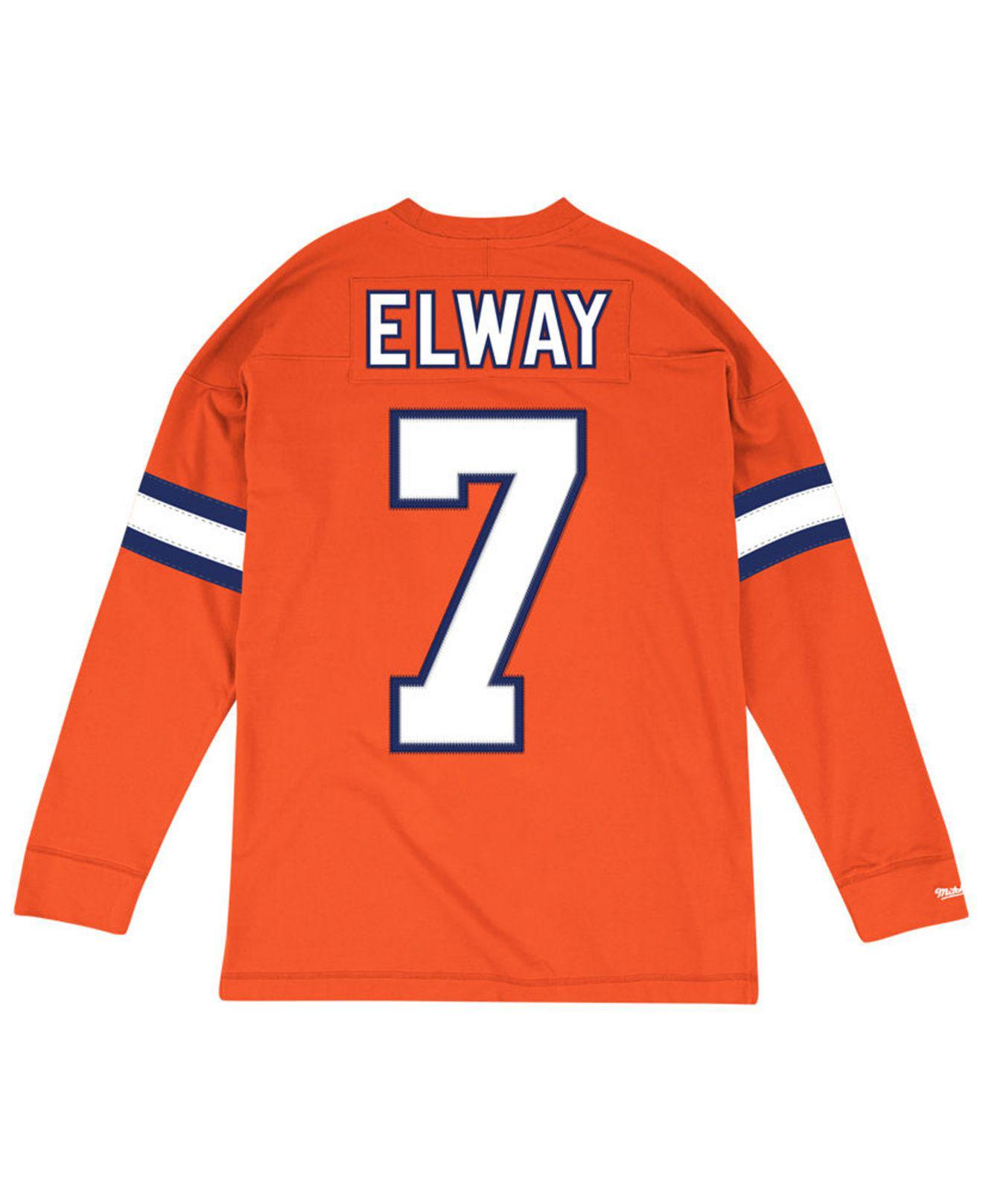 buy online 4eeba 833c6 Orange Men's Retro Player Name & Numer Longsleeve T-shirt