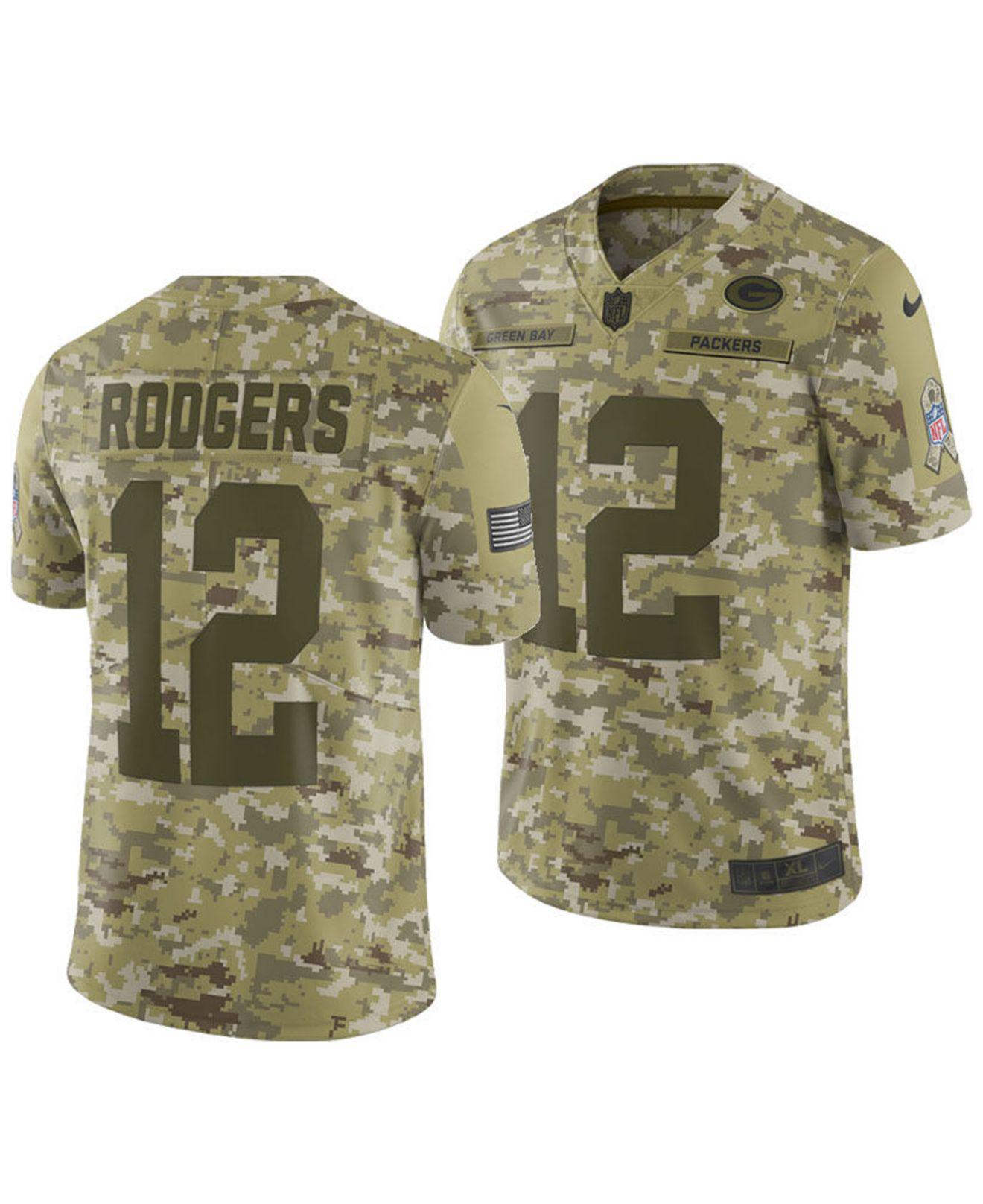 Aaron Rodgers Green Bay Packers Salute To Service Jersey 2018