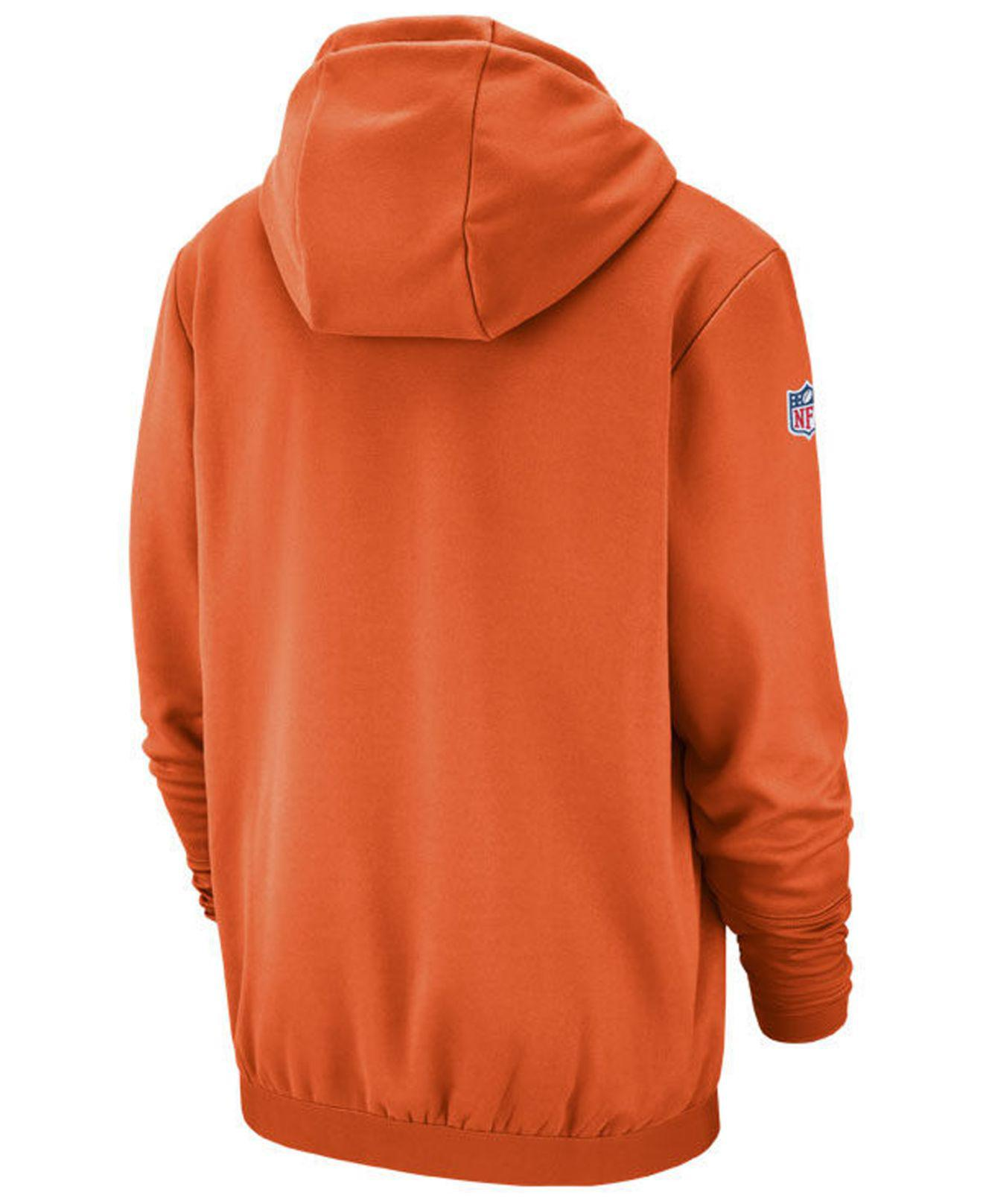5490526ac Lyst - Nike Denver Broncos Sideline Player Local Therma Hoodie in Orange  for Men