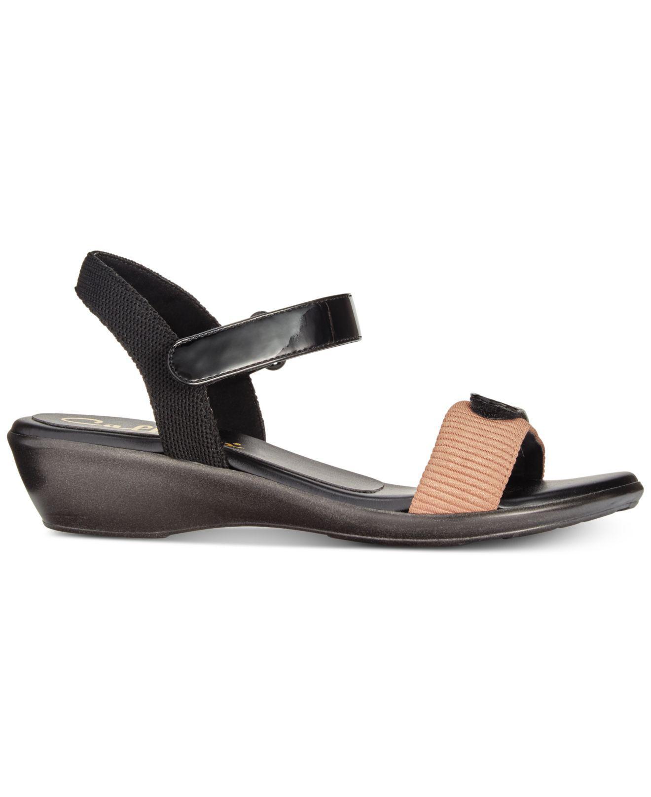 9618568655b6 Lyst - Callisto Simba Wedge Sandals