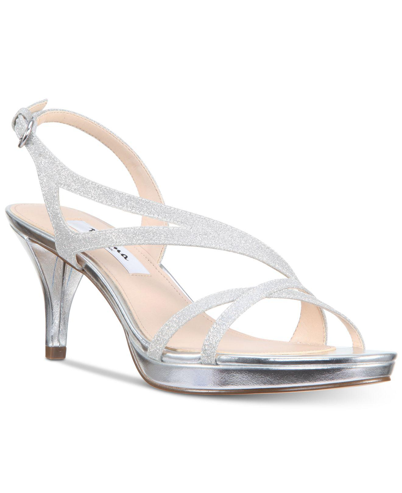 d2589b08728 Nina Nura Evening Sandals in Metallic - Lyst