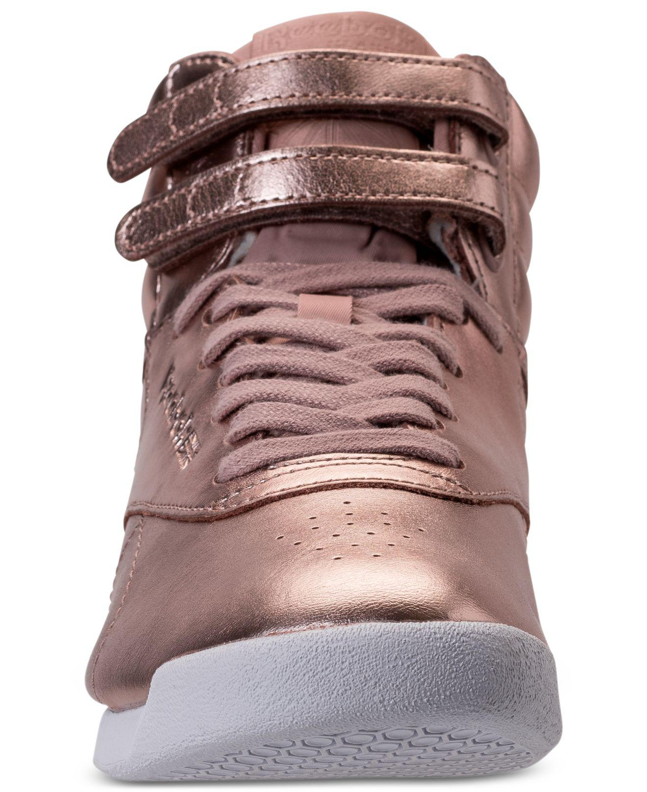 Reebok Women's Freestyle High Top Casual Sneakers from Finish Line lh5UTH