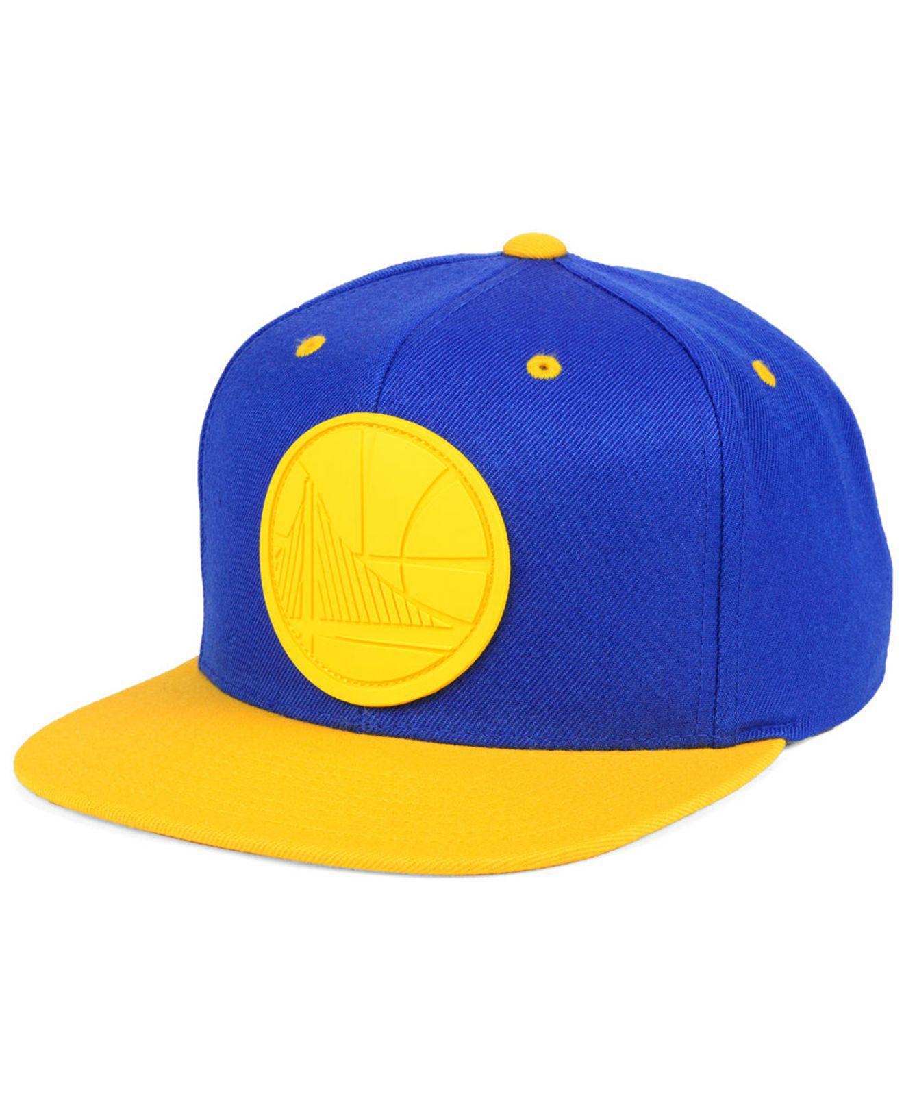 410b1f621c9 Mitchell   Ness. Men s Blue Golden State Warriors Rubber Weld Snapback Cap