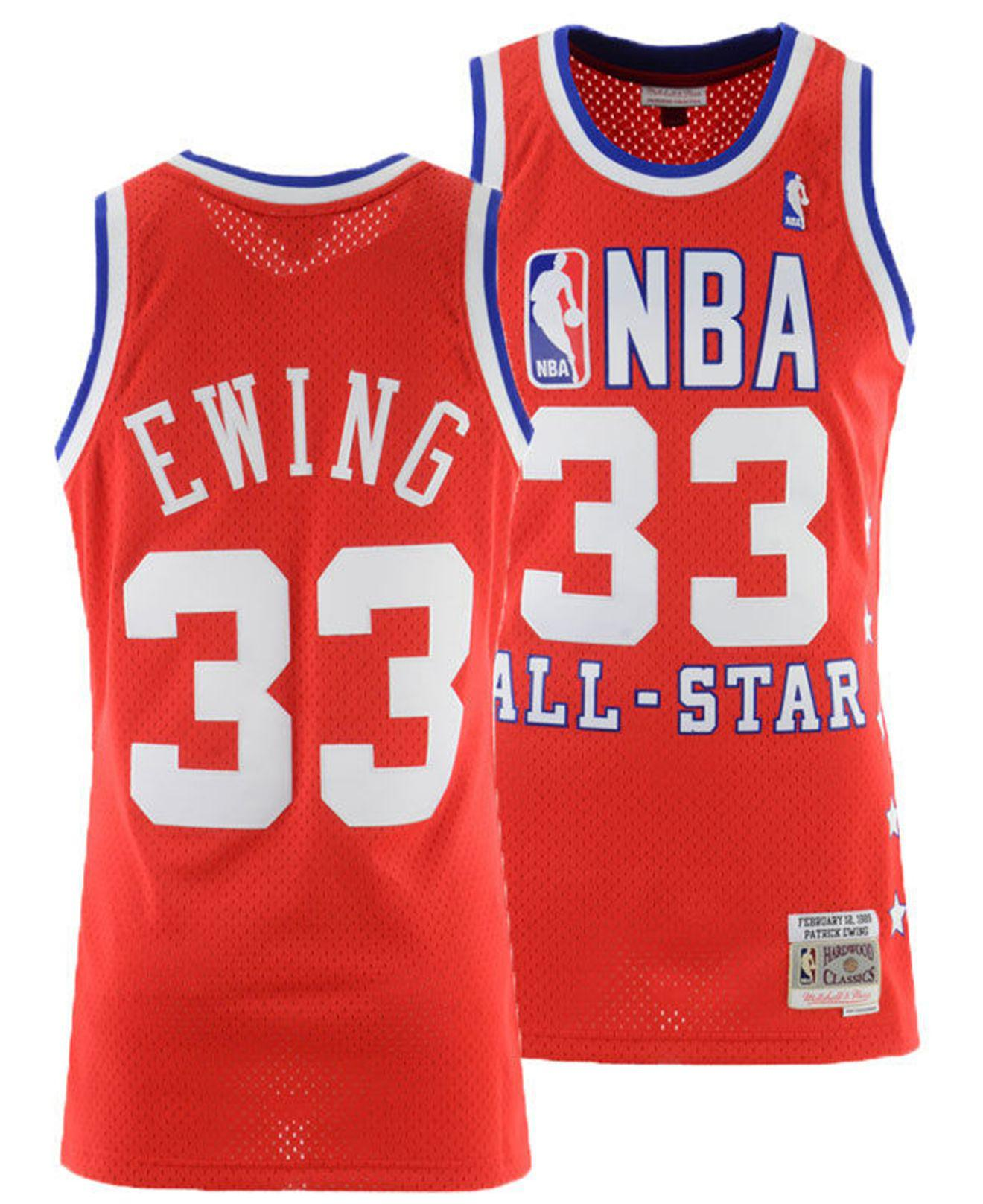check out 6296d ad9ff Men's Red Patrick Ewing Nba All Star 1989 Swingman Jersey