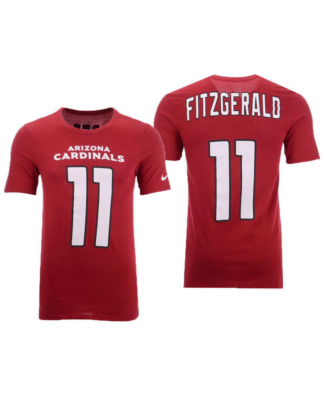 super popular df9ff cfcda Men's Red Larry Fitzgerald Arizona Cardinals Pride Name And Number Wordmark  T-shirt