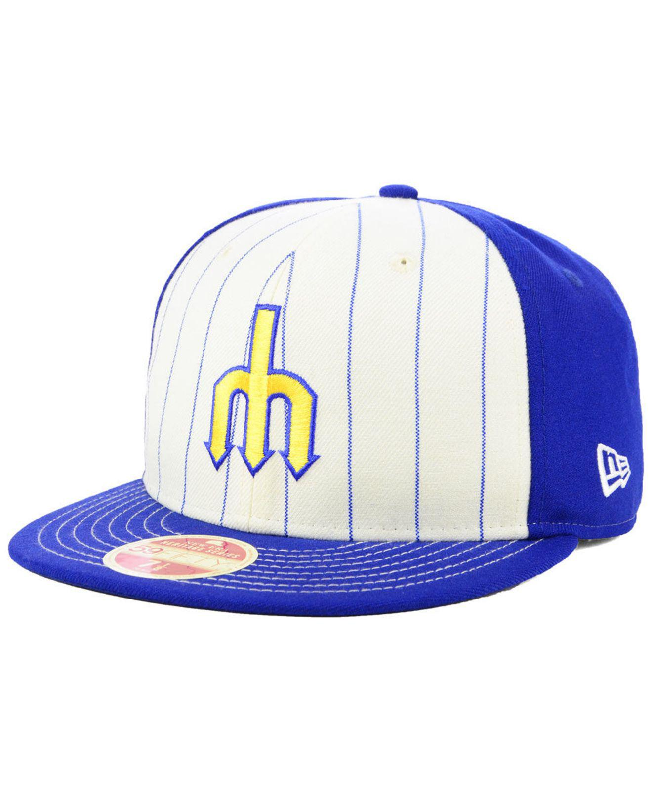 new product 6c3cf 8867e germany ktz. mens blue seattle mariners vintage front 59fifty fitted cap  cb9eb ea06b