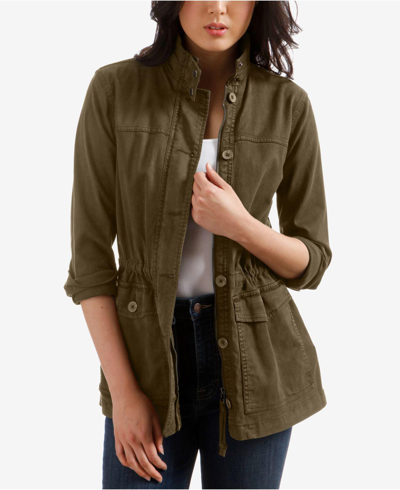 f1d6ee113f6 Lyst - Lucky Brand Cargo Jacket in Green