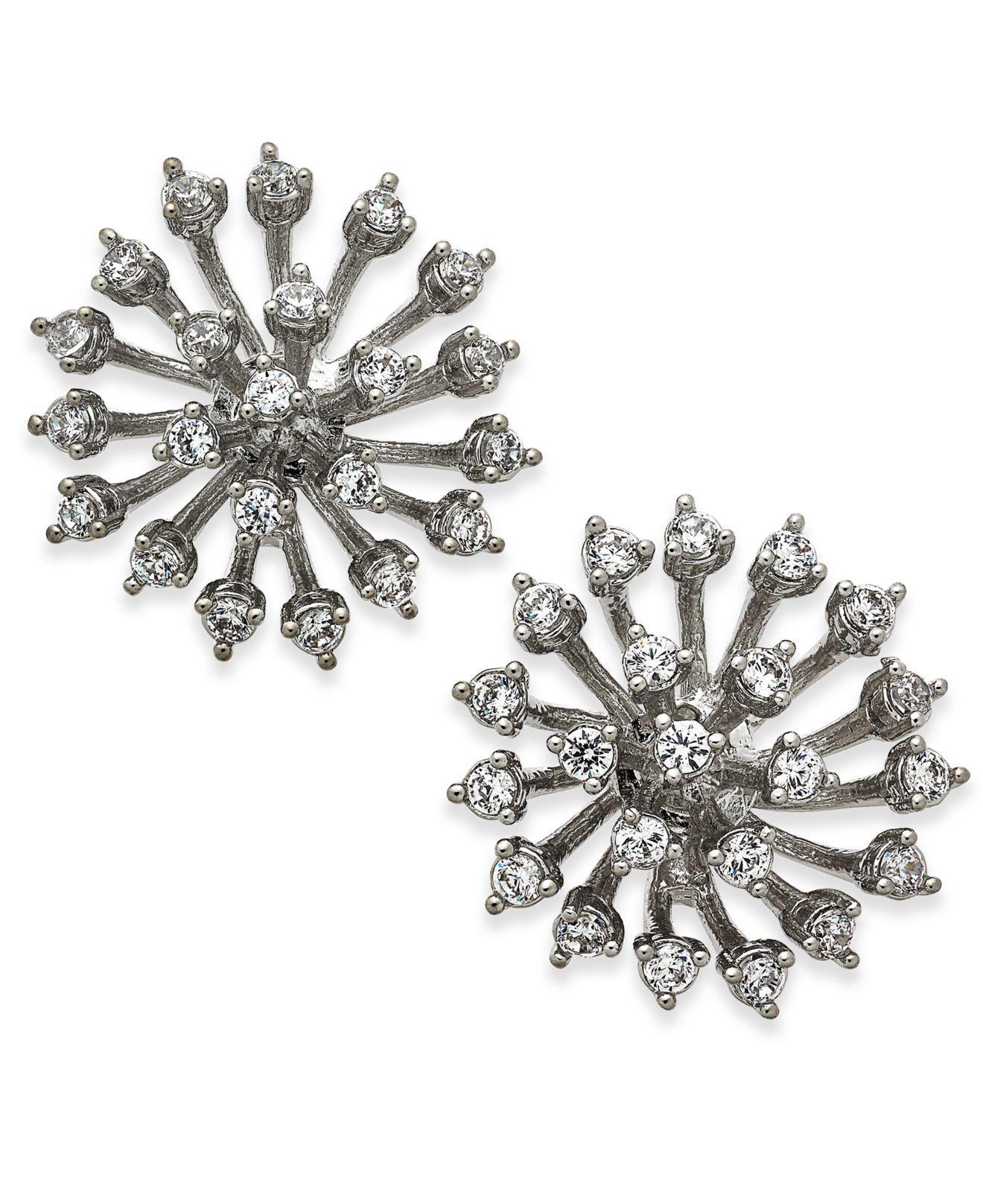 3845c0519 Lyst - Kate Spade Crystal Starburst Stud Earrings in Metallic