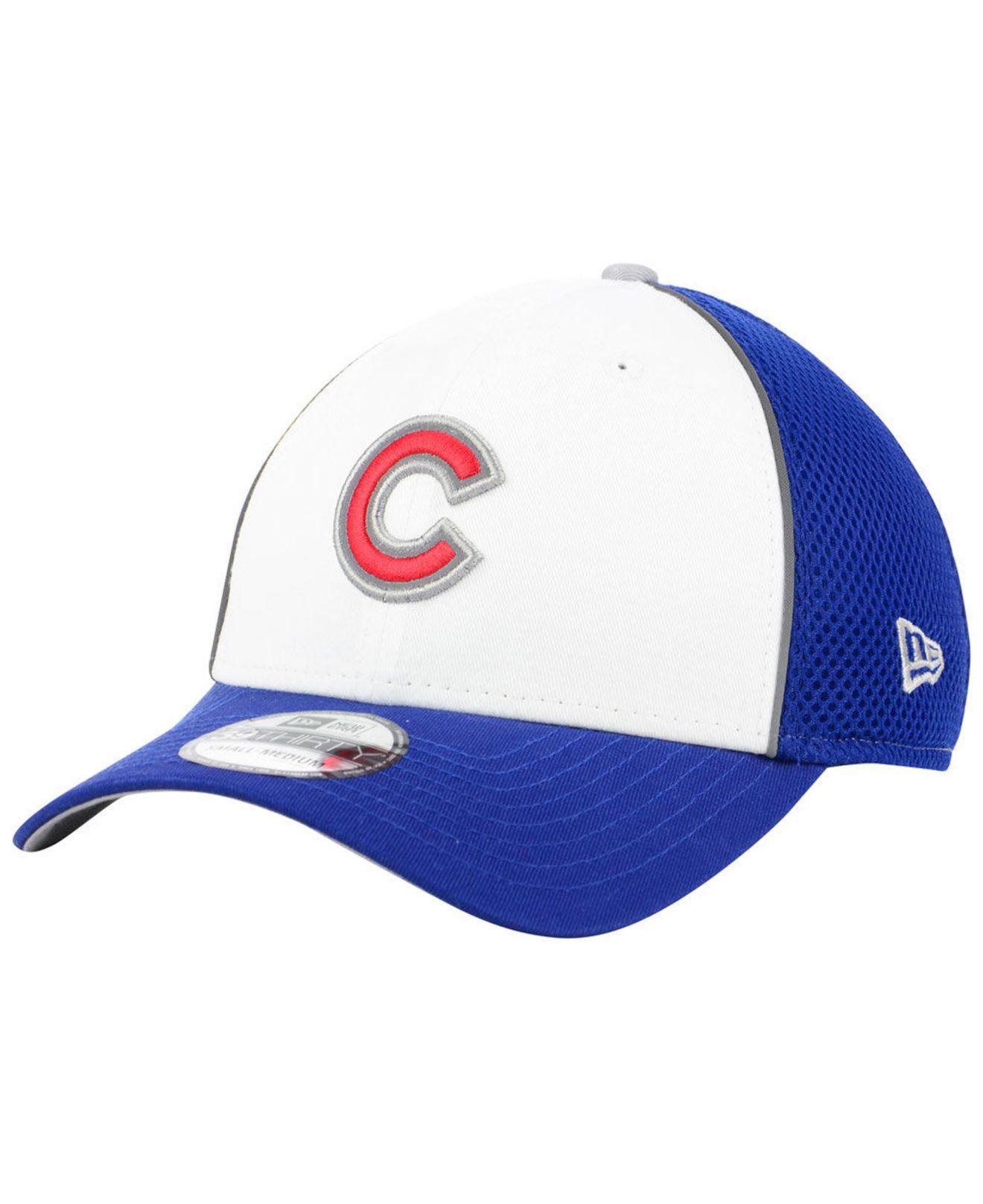 brand new 58ad3 2319b KTZ. Men s Blue Chicago Cubs Pop Reflective 39thirty Cap
