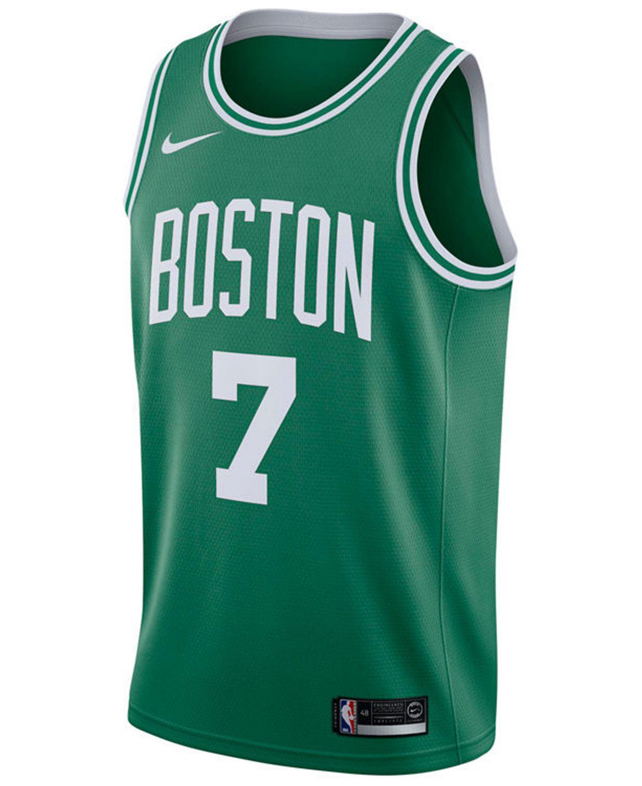 138be3e110cf Lyst - Nike Jaylen Brown Boston Celtics Icon Swingman Jersey in Green for  Men