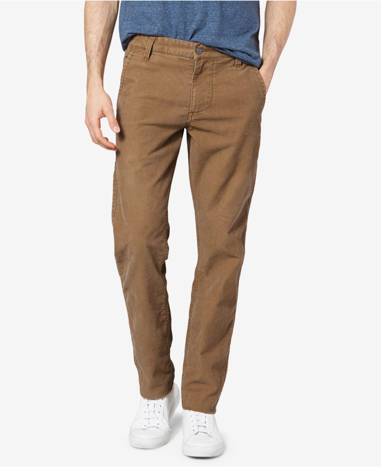 Dockers Men/'s Black The Broken In Alpha Khaki Slim Tapered  Fit Pants