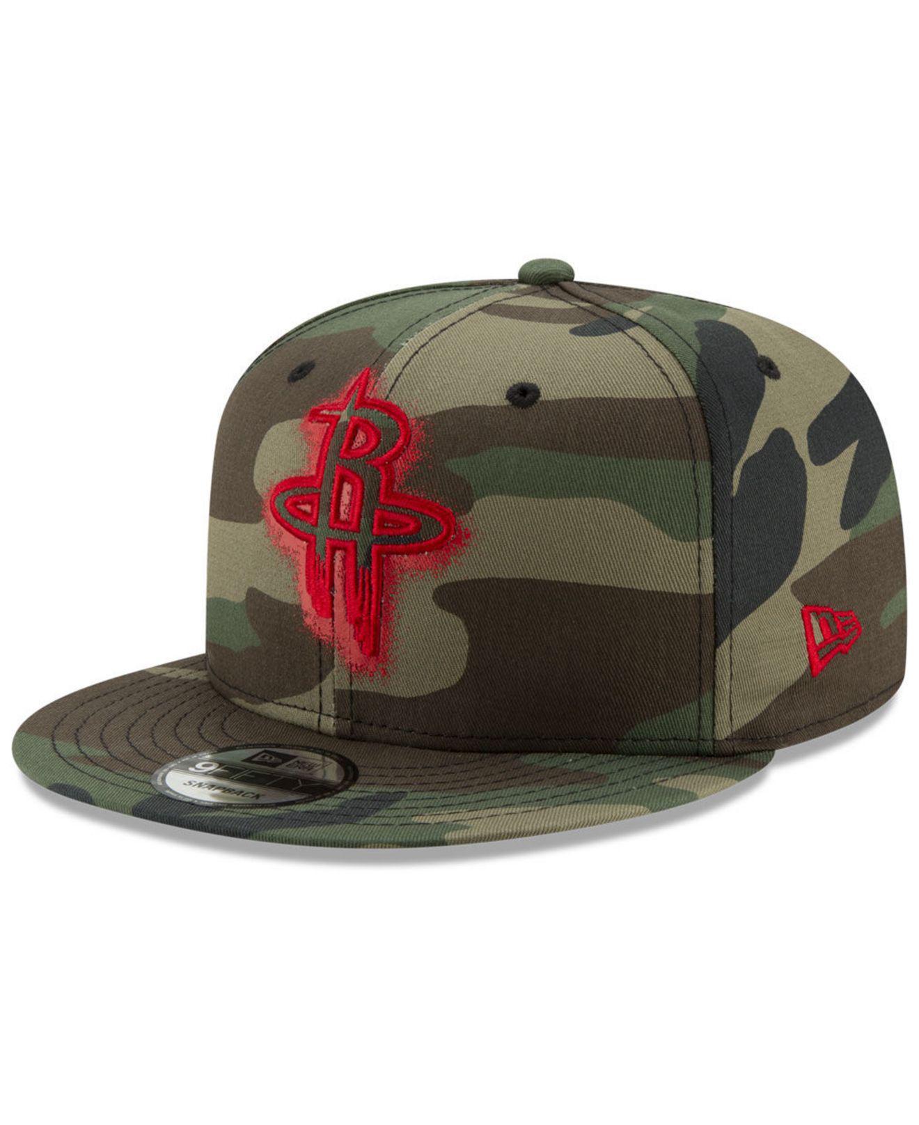 sale retailer 8181c 7eeb2 KTZ - Green Houston Rockets Overspray 9fifty Snapback Cap for Men - Lyst.  View fullscreen
