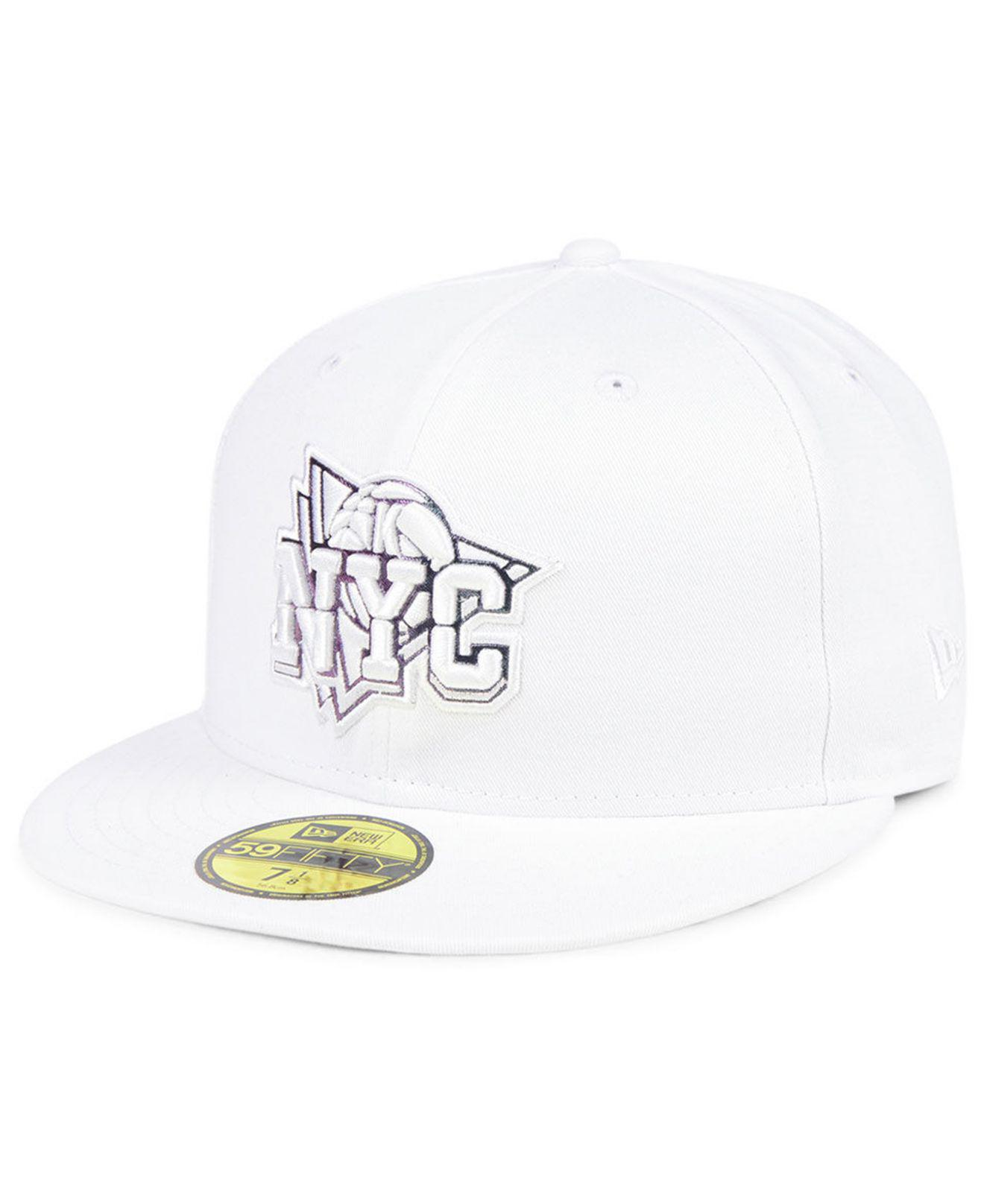 117e471cf9791 promo code for lyst ktz new york knicks iridescent combo 59fifty fitted cap  in dec5f 138eb