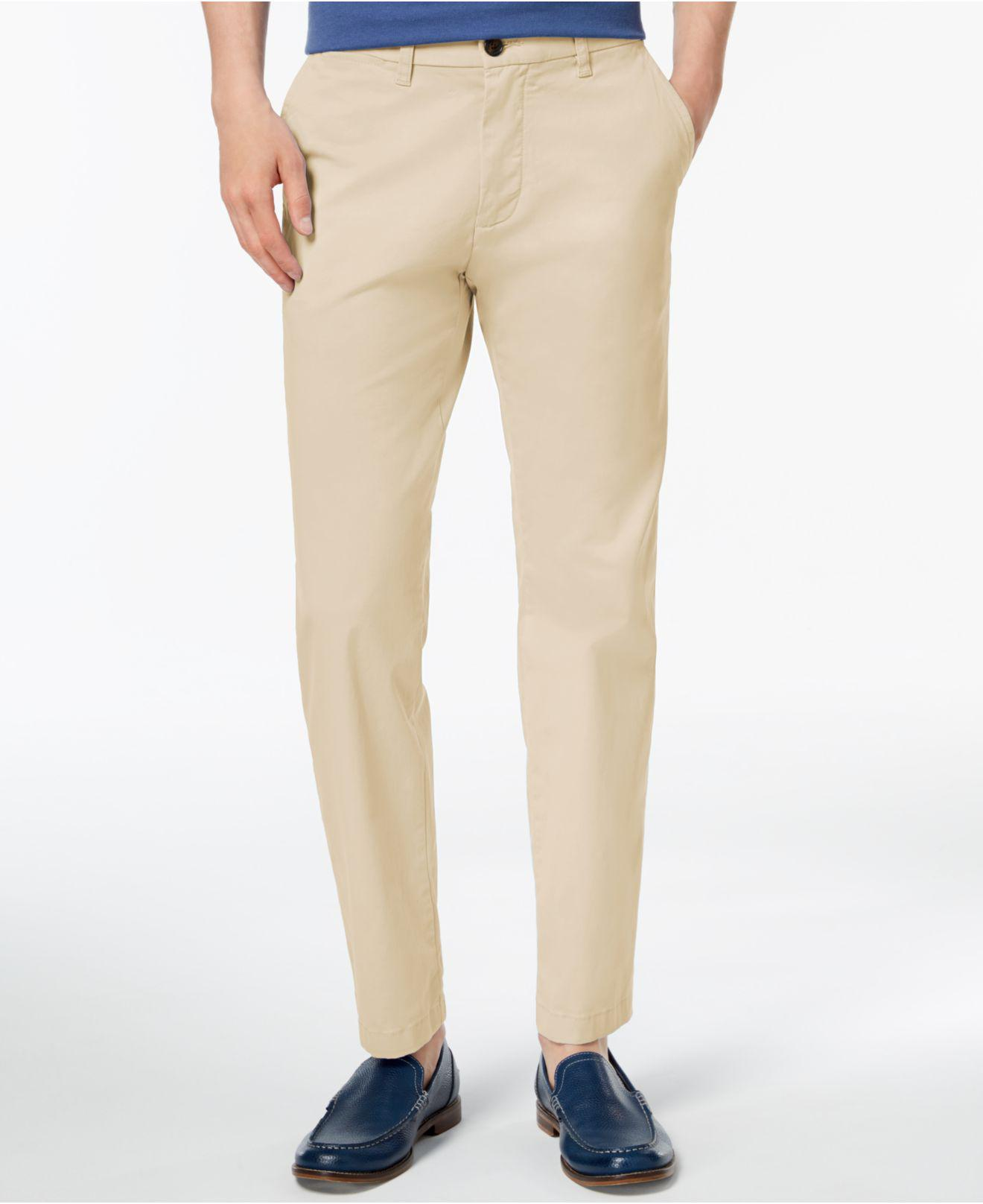 201dd2e10 Tommy Hilfiger Custom-fit Chinos in Natural for Men - Save 51% - Lyst