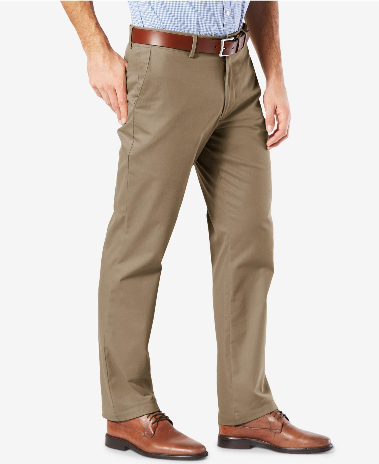 47471c5381a Lyst - Dockers Mens  Signature Lux Cotton Straight Fit Stretch Khaki Pants  in Natural for Men