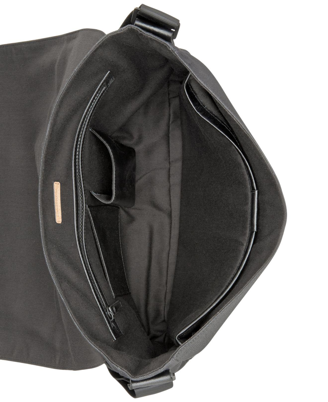 0a8f2fdc508b Lyst - Calvin Klein Coated Canvas Messenger Bag in Black for Men