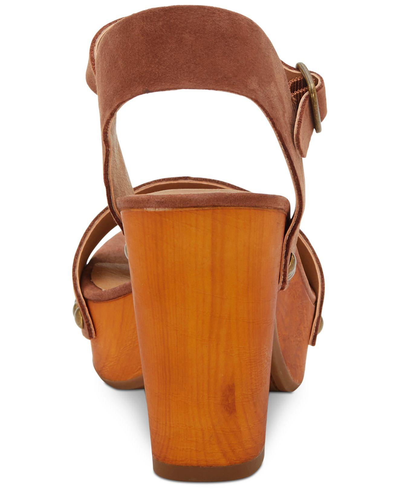 bd3e80c90ed3 Lucky Brand - Brown Trisa Wood Sandals - Lyst. View fullscreen