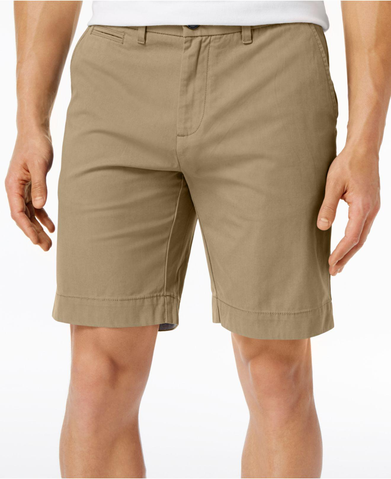 Khaki or Navy Blue Men/'s Big /& Tall Tommy Hilfiger Classic Fit Chino Shorts