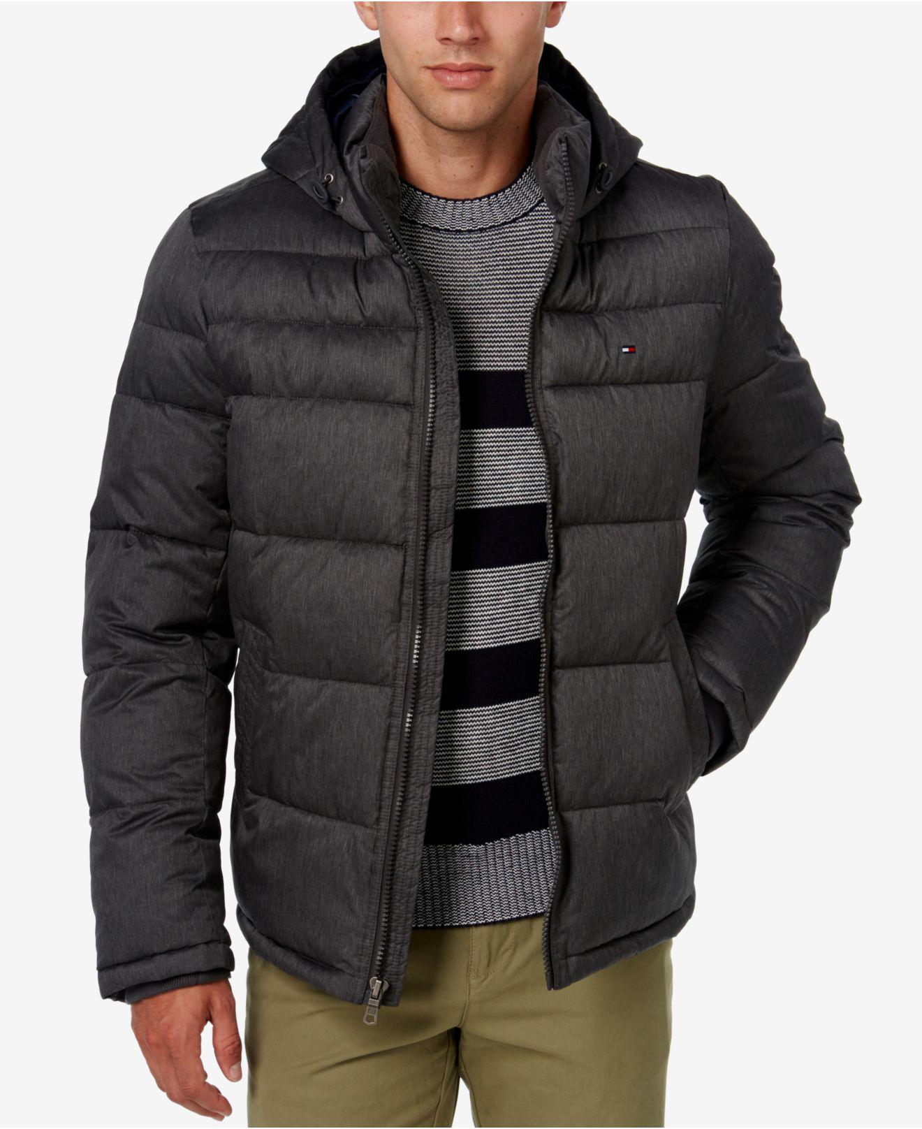 98370067 Tommy Hilfiger Classic Hooded Puffer Jacket in Black for Men - Save ...