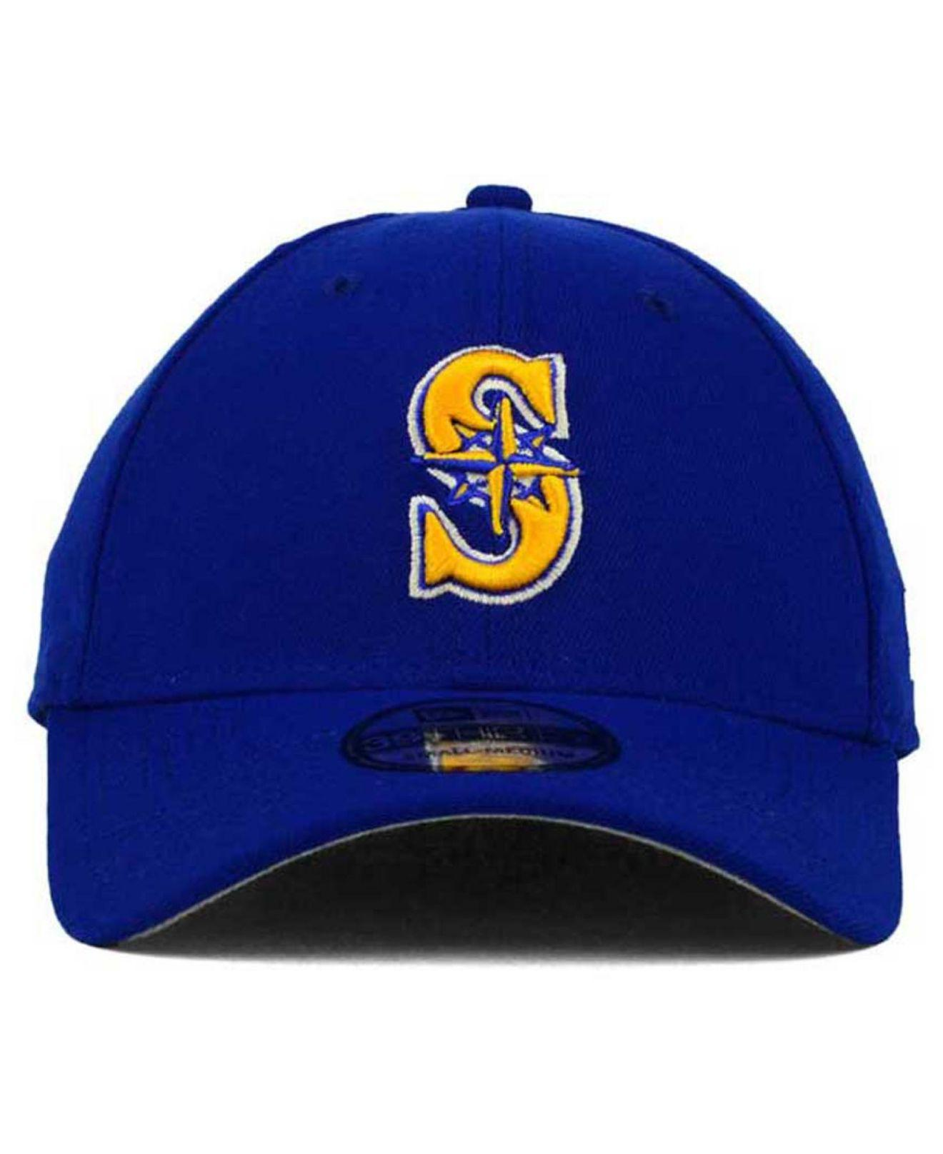 on sale 2d725 08993 ... official lyst 47 brand seattle mariners core classic 39thirty cap in  blue for men 552ae f01b3