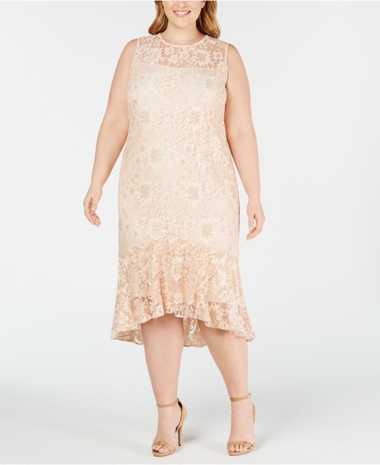4da12d58e5 Plus Size High Low Lace Dresses - Data Dynamic AG