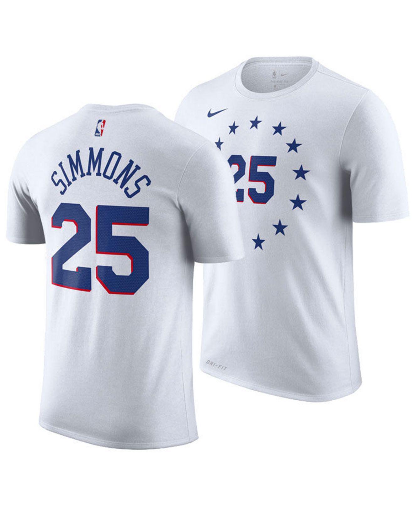 1eb31ffe866 Nike. Men s White Ben Simmons Philadelphia 76ers Earned Edition Player T- shirt