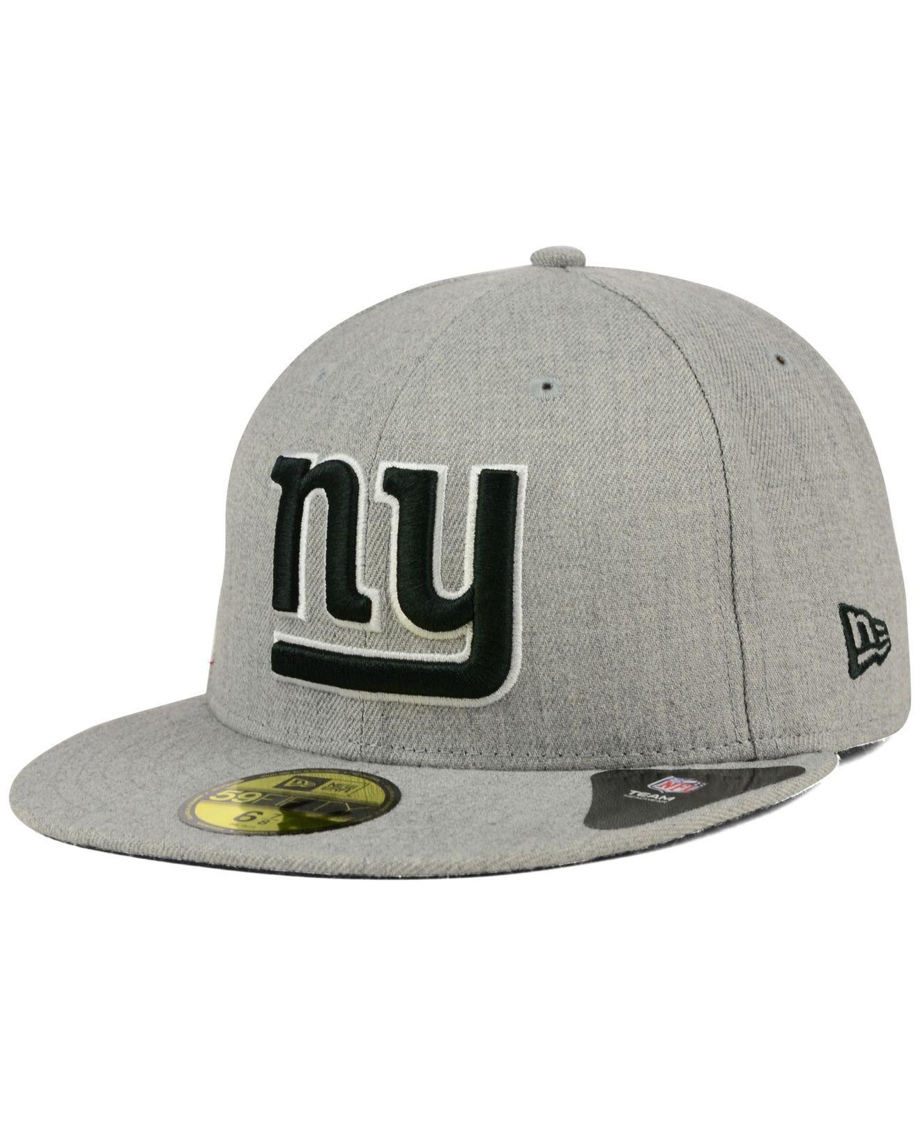Lyst - KTZ New York Giants Heather Black White 59fifty Cap in Gray ... db5a797c3