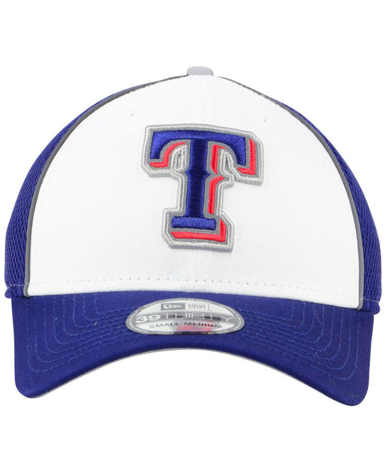 low priced 91968 eb96d ... new zealand lyst ktz texas rangers pop reflective 39thirty cap in blue  for men b1c41 a0813