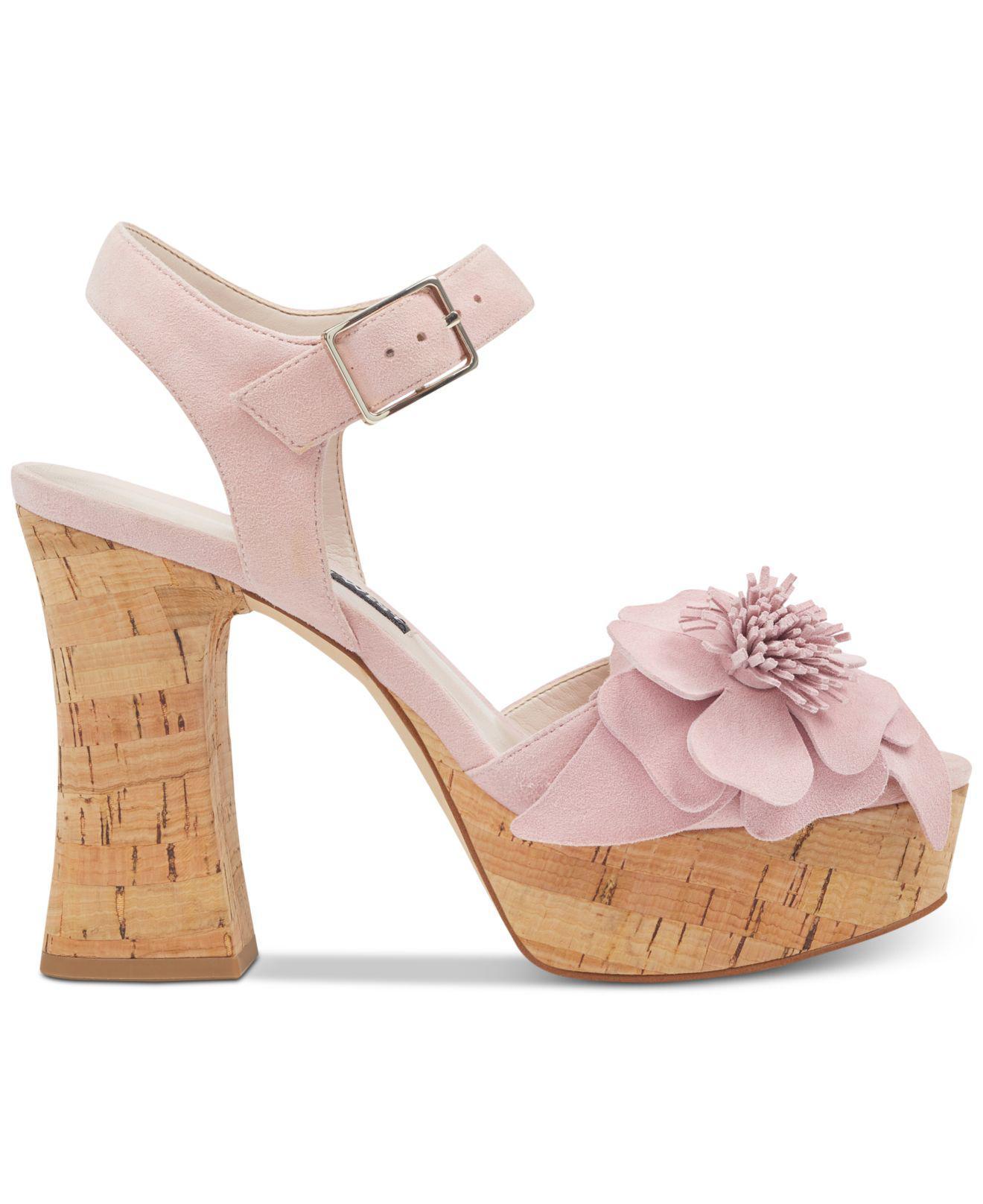 b351e86d8002 Lyst nine west winflower sandals in pink jpg 1320x1616 Pink nine west  sandals