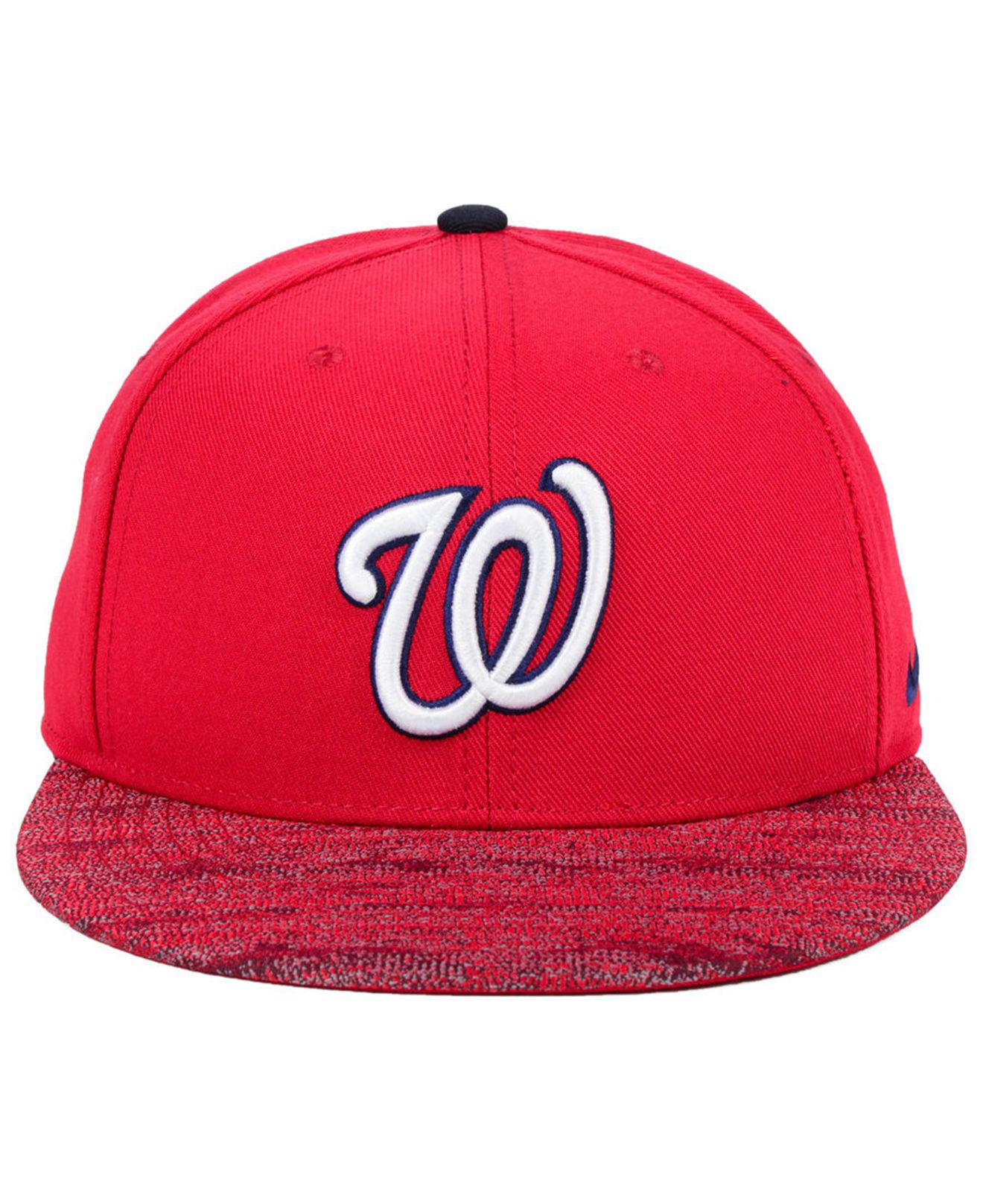 01e5ea6cc84fb Lyst - Nike Washington Nationals Reverse New Day Snapback Cap in Red for Men