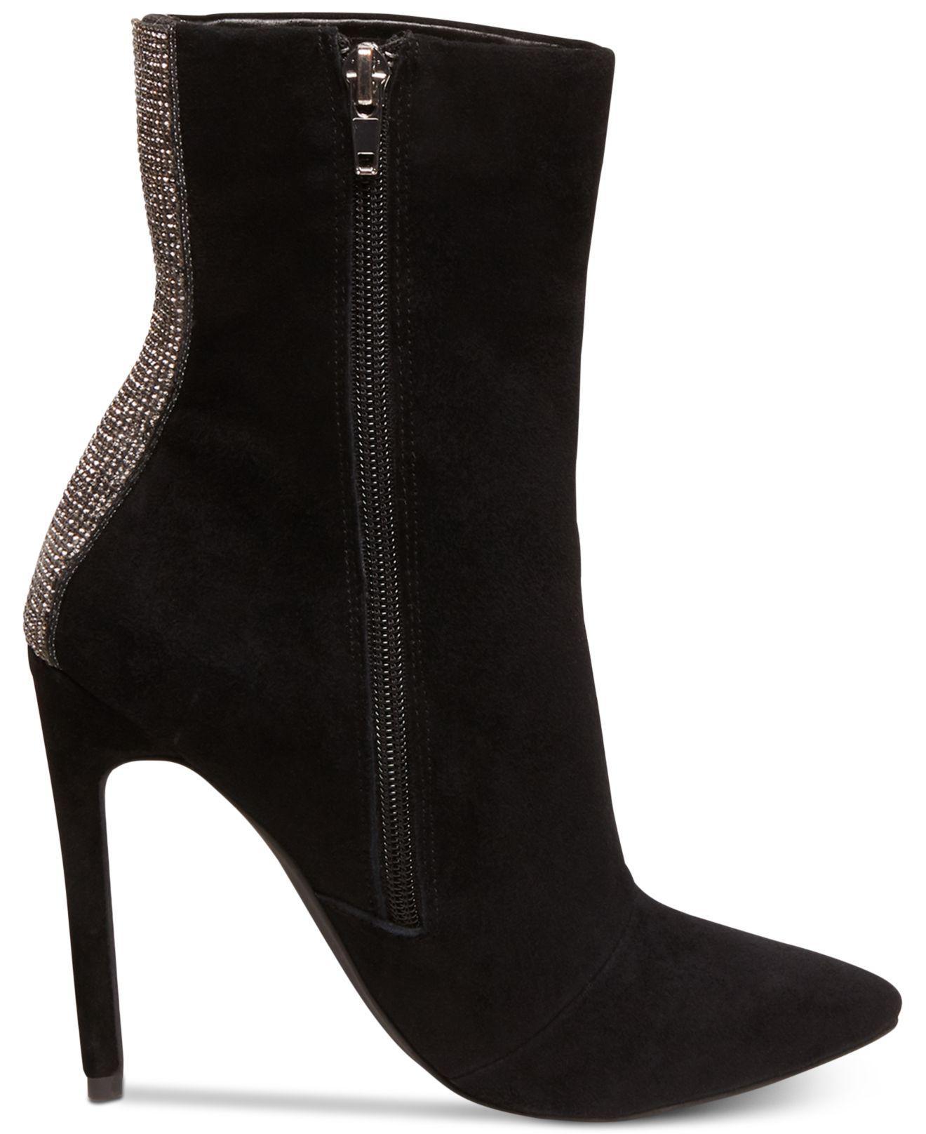bc9f0ddb529 Women's Black Wagu Rhinestone-embellished Suede Boots