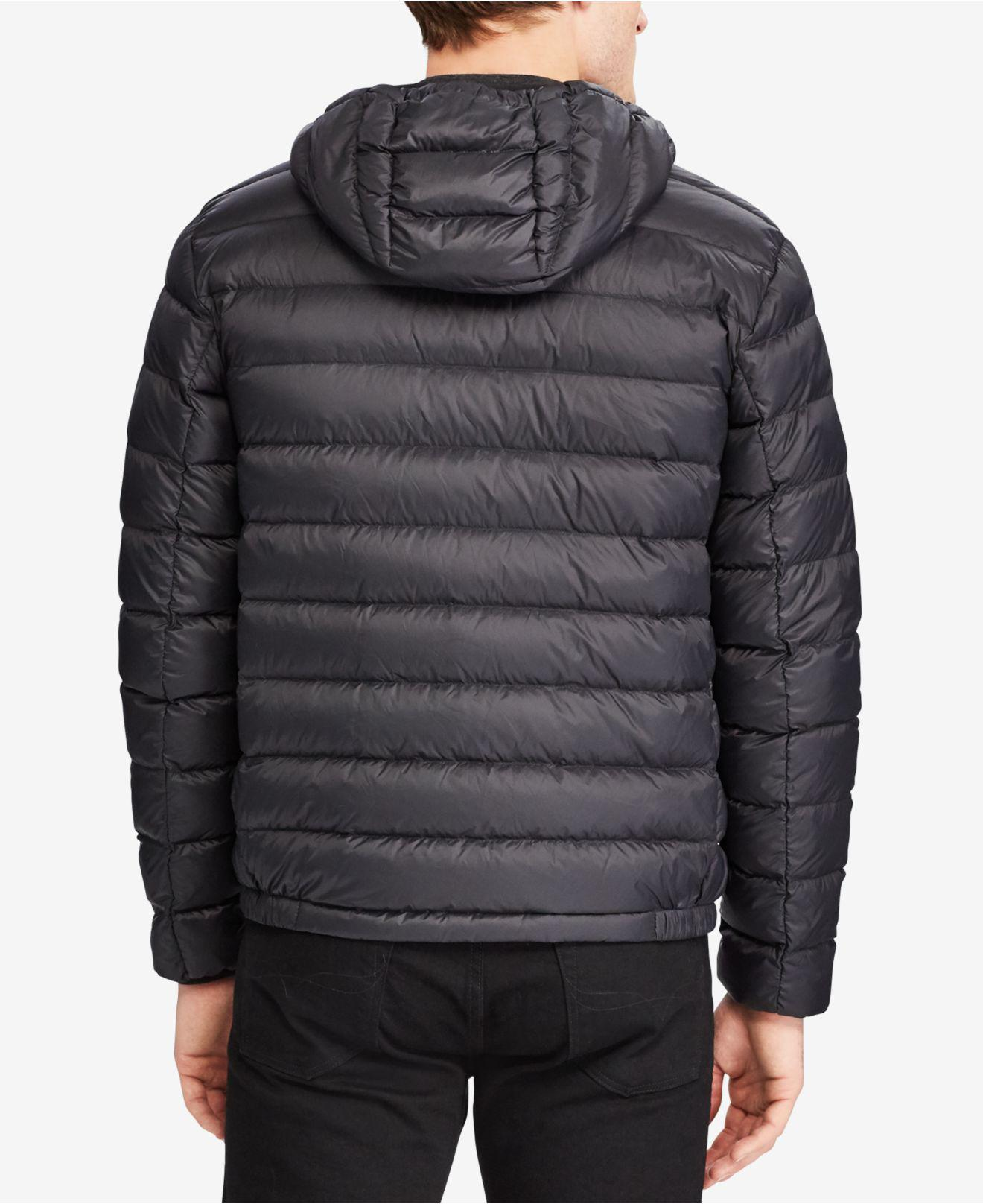 Polo Ralph Lauren Leather Men's Big & Tall Packable Hooded ...
