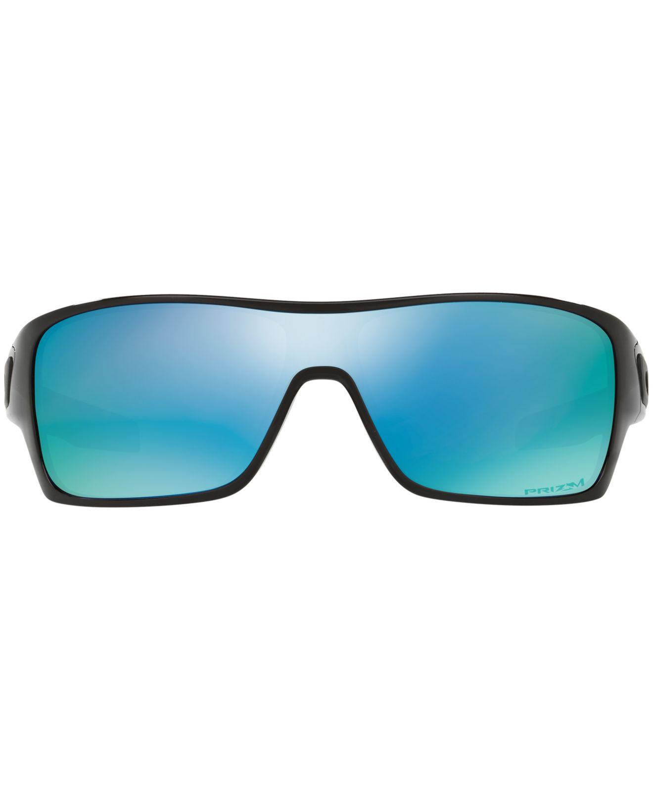 a16ee6478d Lyst - Oakley Polarized Turbine Rotor Prizm Deep Water Sunglasses ...